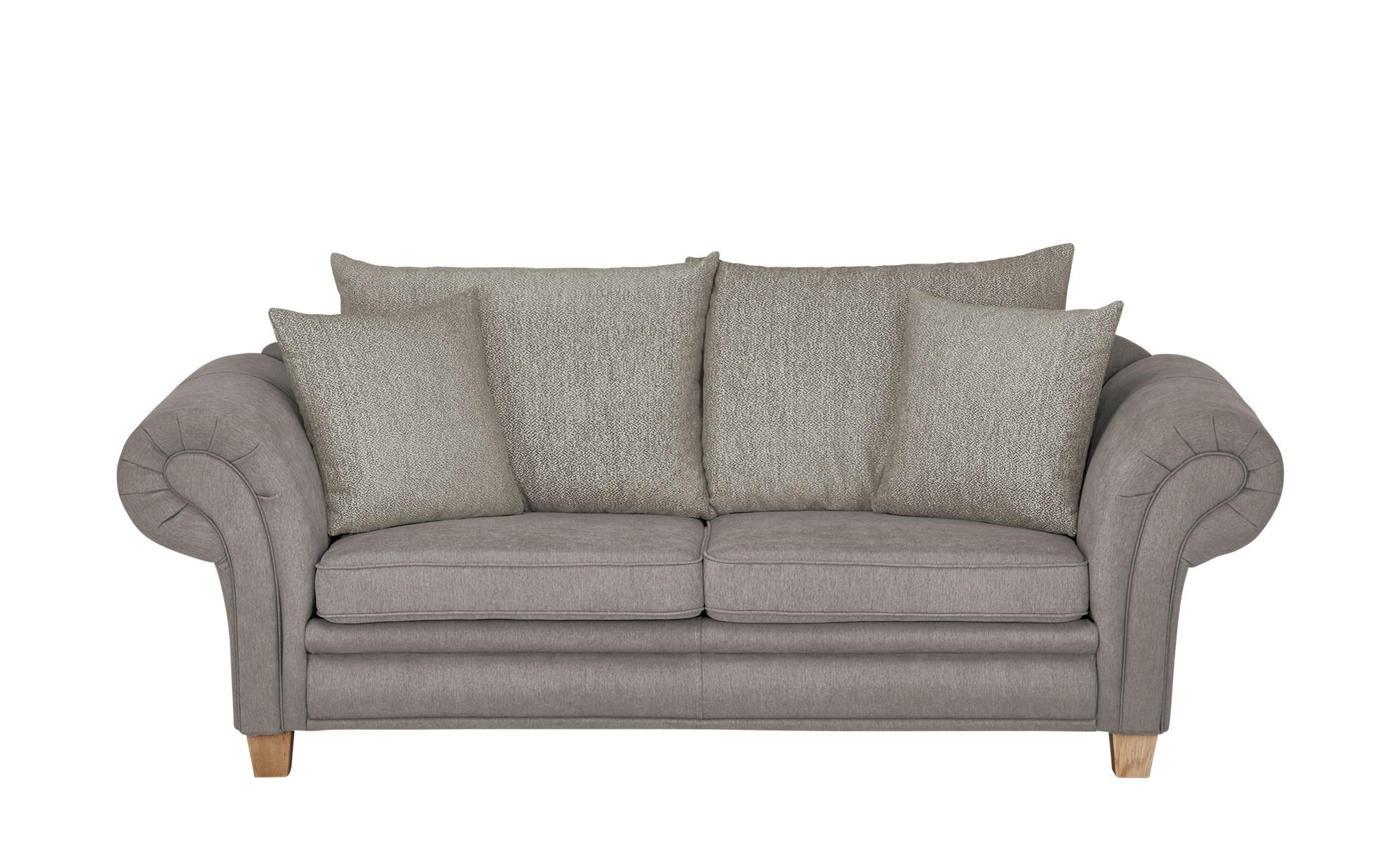 Sofa   Chalet ¦ grau ¦ Maße (cm): B: 218 H: 81 T: 91 Polstermöbel > Sofas > 3-Sitzer - Höffner