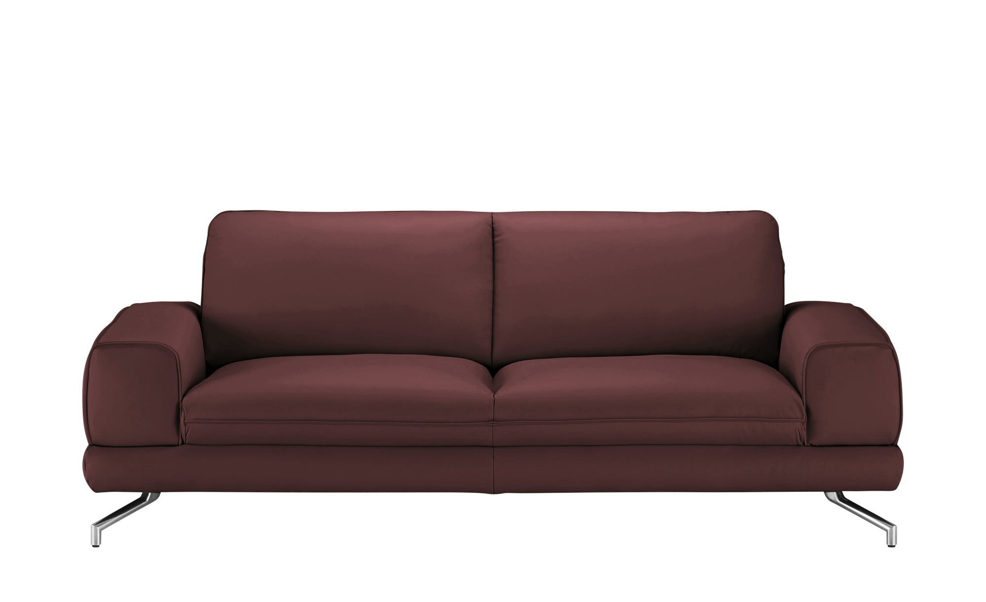smart Sofa  Bonika ¦ rot ¦ Maße (cm): B: 218 H: 83 T: 95 Polstermöbel > Sofas > 3-Sitzer - Höffner