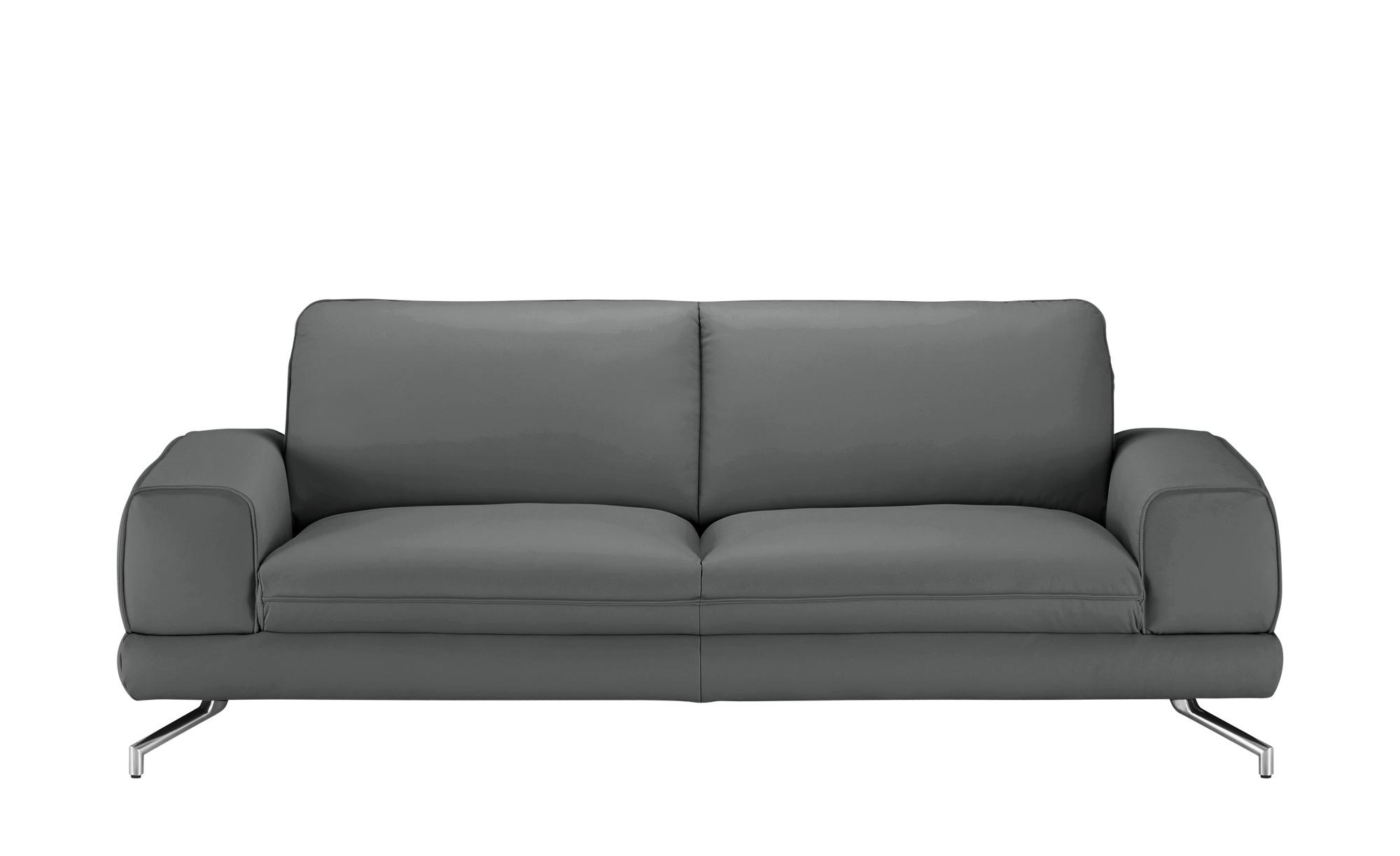 smart Sofa  Bonika ¦ grau ¦ Maße (cm): B: 218 H: 83 T: 95 Polstermöbel > Sofas > 3-Sitzer - Höffner