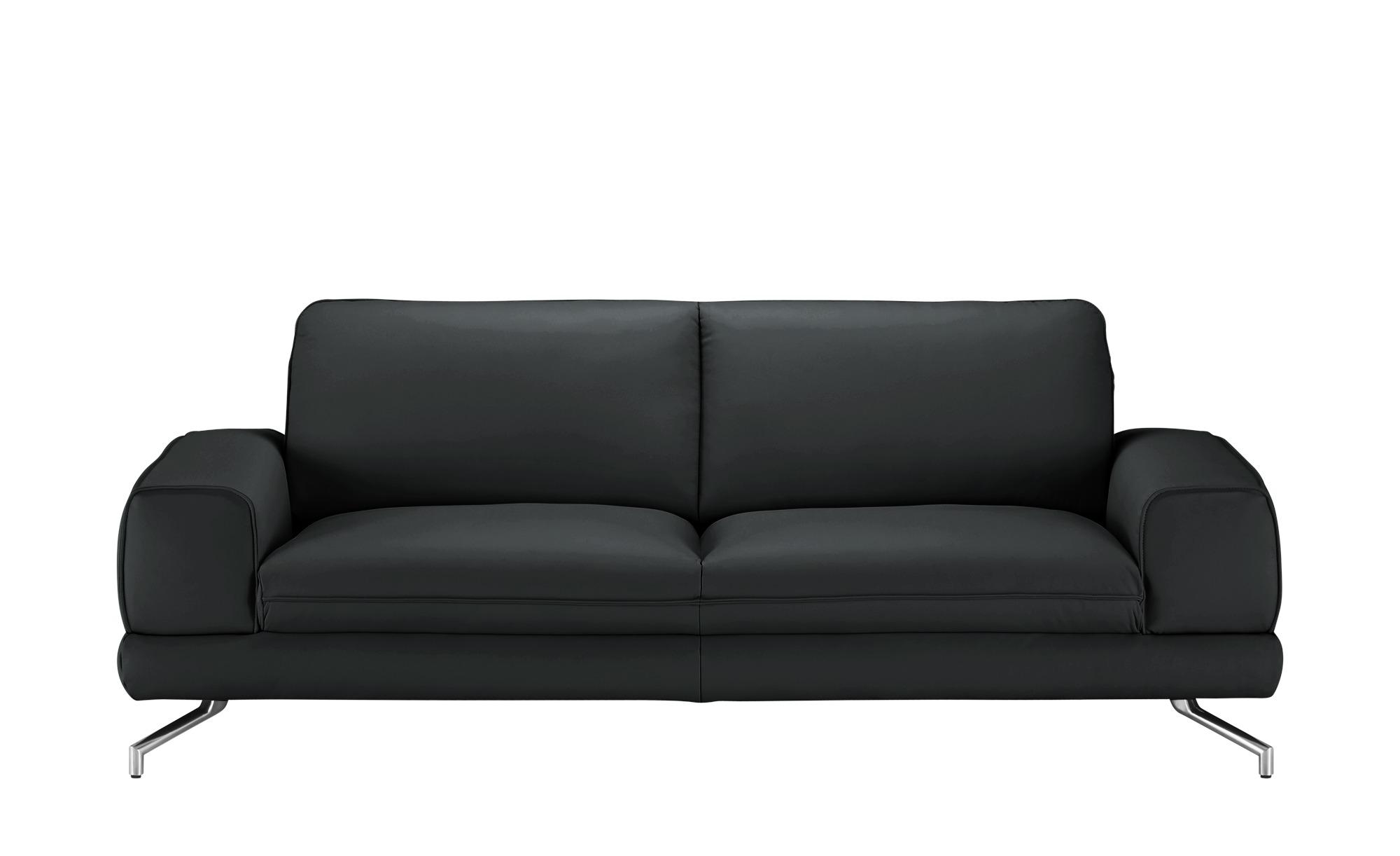 smart Sofa  Bonika ¦ schwarz ¦ Maße (cm): B: 218 H: 83 T: 95 Polstermöbel > Sofas > 3-Sitzer - Höffner