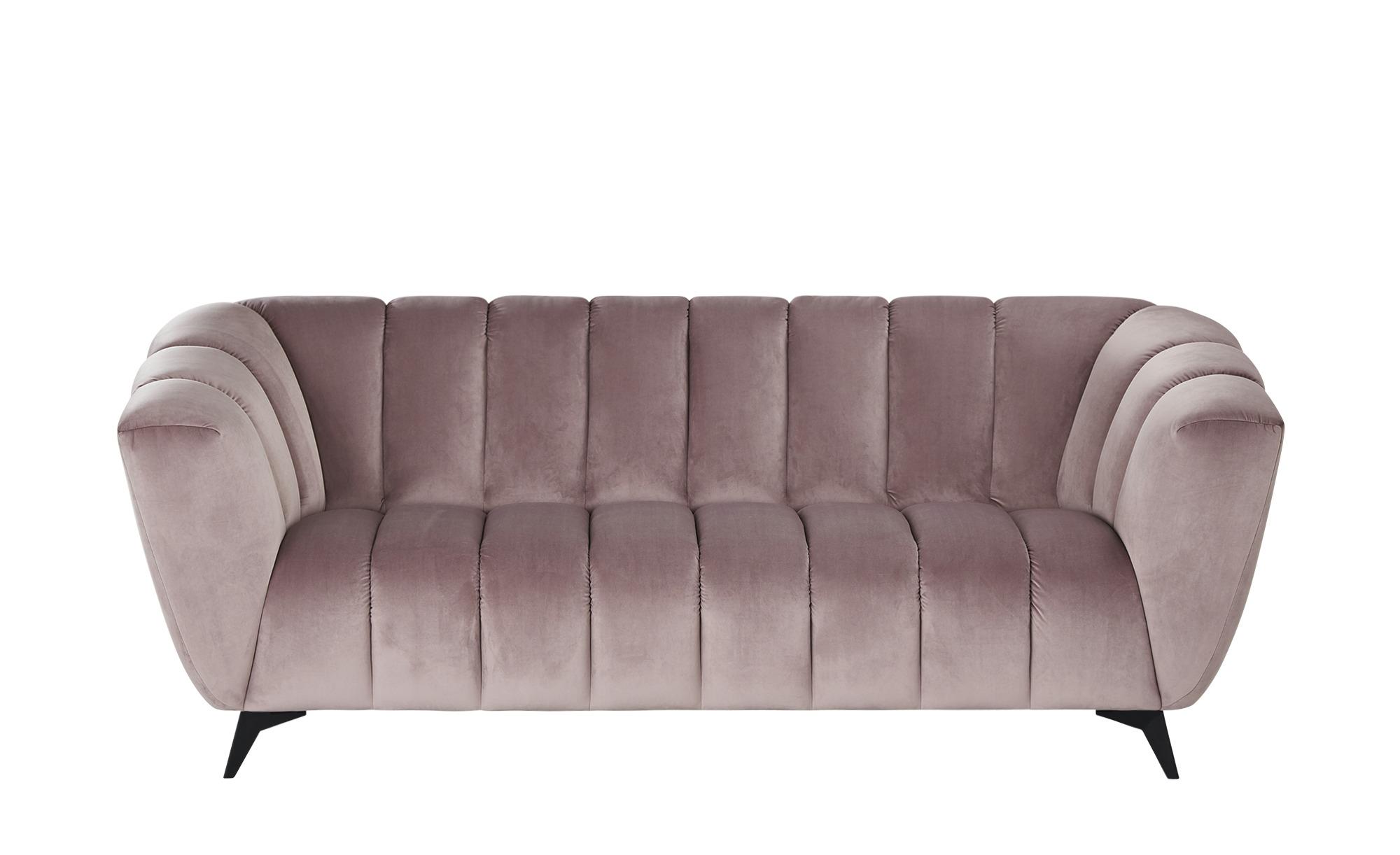 Sofa  Samantha ¦ rosa/pink ¦ Maße (cm): B: 220 H: 86 T: 100 Polstermöbel > Sofas > 3-Sitzer - Höffner
