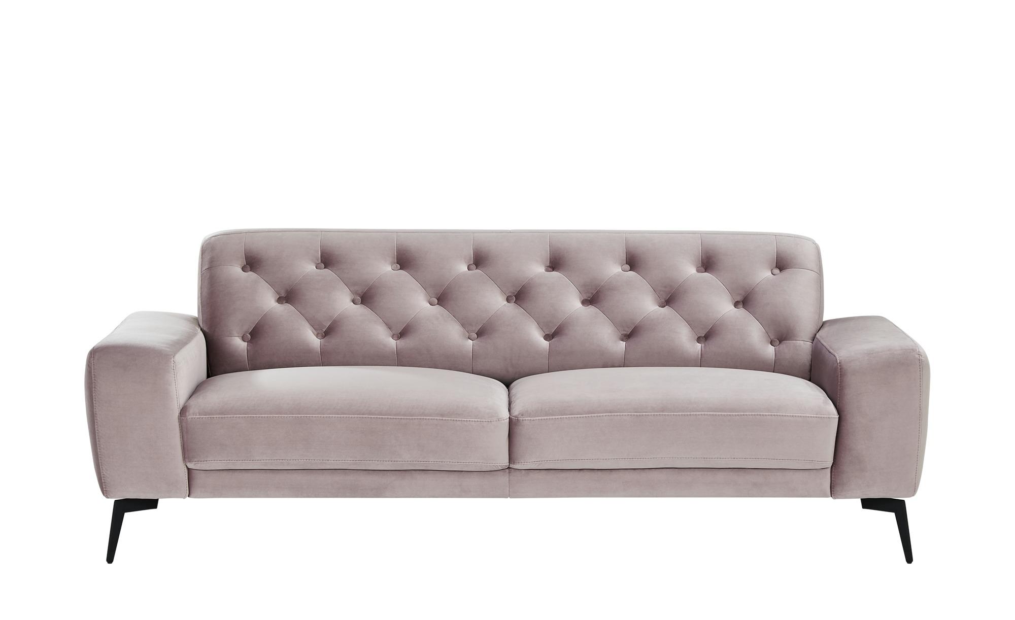 smart Sofa  Alana ¦ rosa/pink ¦ Maße (cm): B: 216 H: 77 T: 95 Polstermöbel > Sofas > 3-Sitzer - Höffner