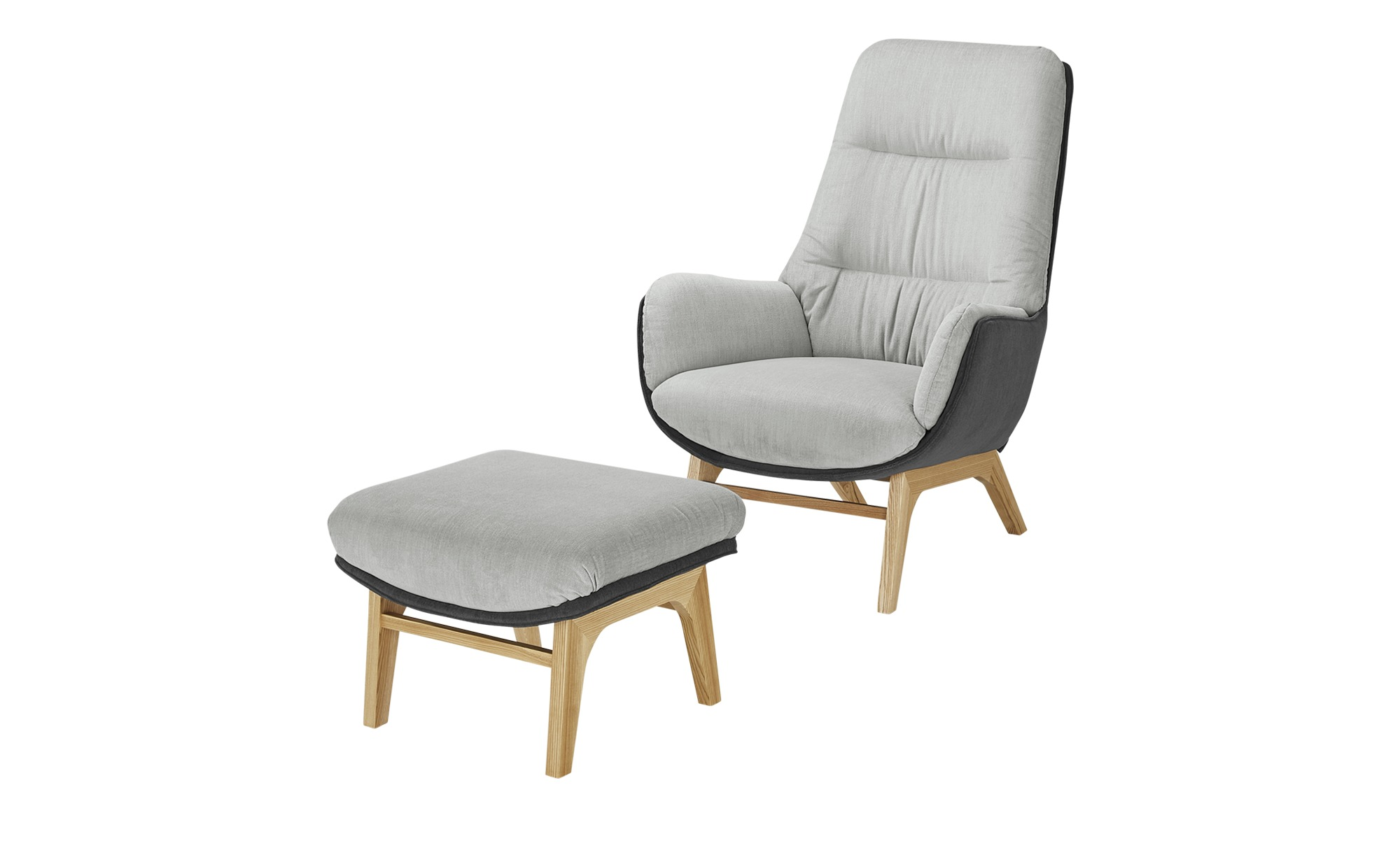 Gray & Jones Hochlehnsessel  Cap Ferrat Homi ¦ grau ¦ Maße (cm): B: 82 H: 108 T: 90 Polstermöbel > Sessel > Polstersessel - Höffner