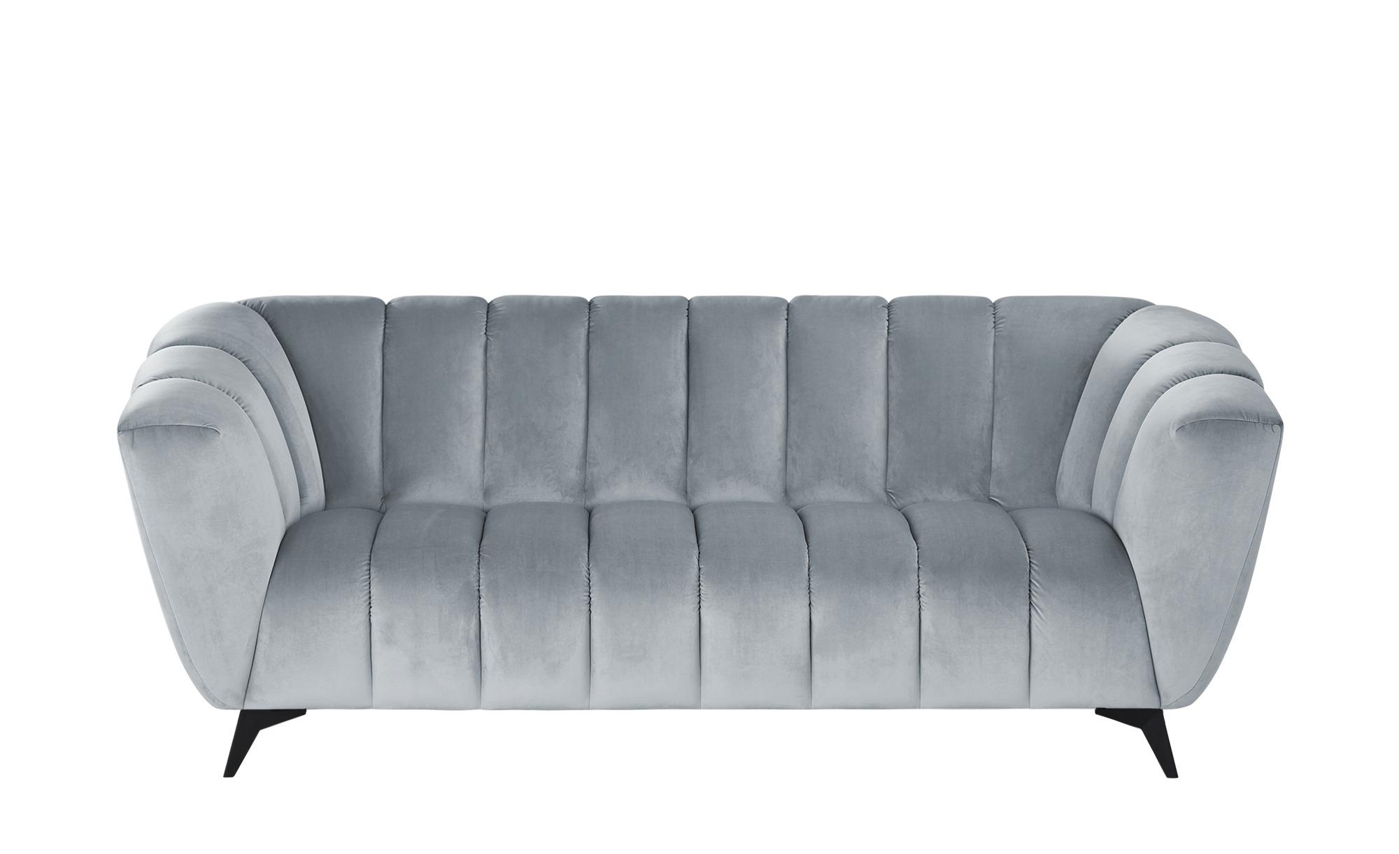 Sofa  Samantha ¦ blau ¦ Maße (cm): B: 220 H: 86 T: 100 Polstermöbel > Sofas > 3-Sitzer - Höffner