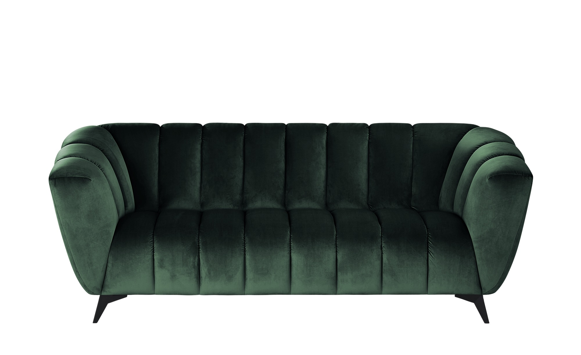 Sofa  Samantha ¦ grün ¦ Maße (cm): B: 220 H: 86 T: 100 Polstermöbel > Sofas > 3-Sitzer - Höffner