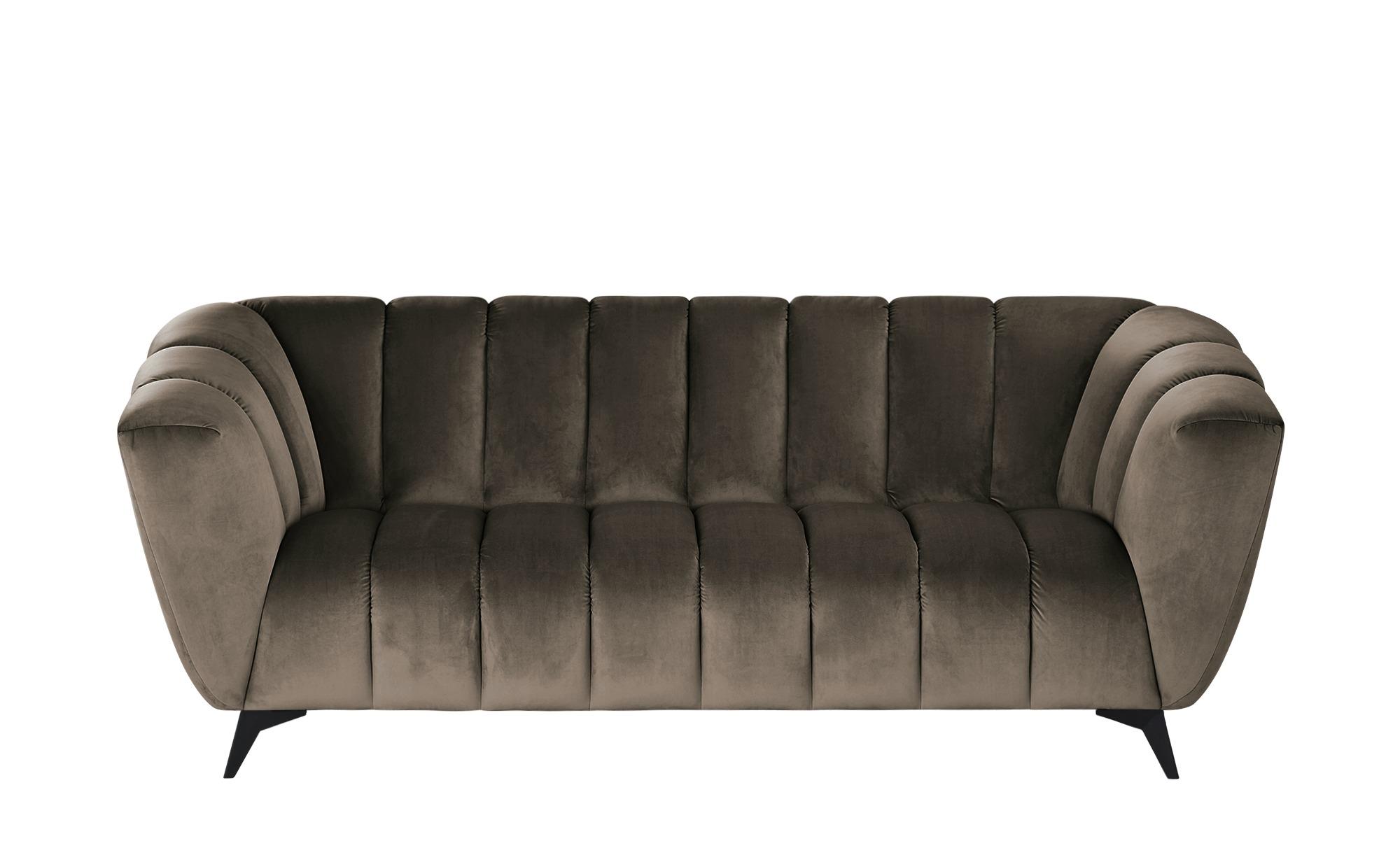 Sofa  Samantha ¦ braun ¦ Maße (cm): B: 220 H: 86 T: 100 Polstermöbel > Sofas > 3-Sitzer - Höffner