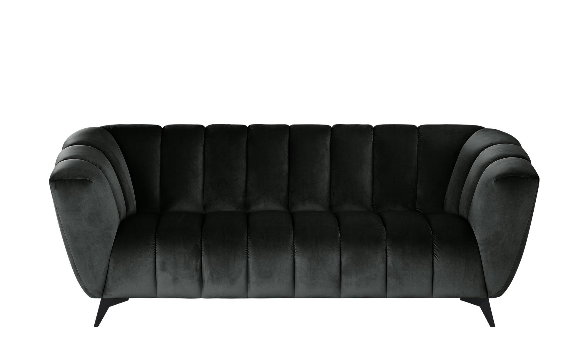 Sofa  Samantha ¦ grau ¦ Maße (cm): B: 220 H: 86 T: 100 Polstermöbel > Sofas > 3-Sitzer - Höffner