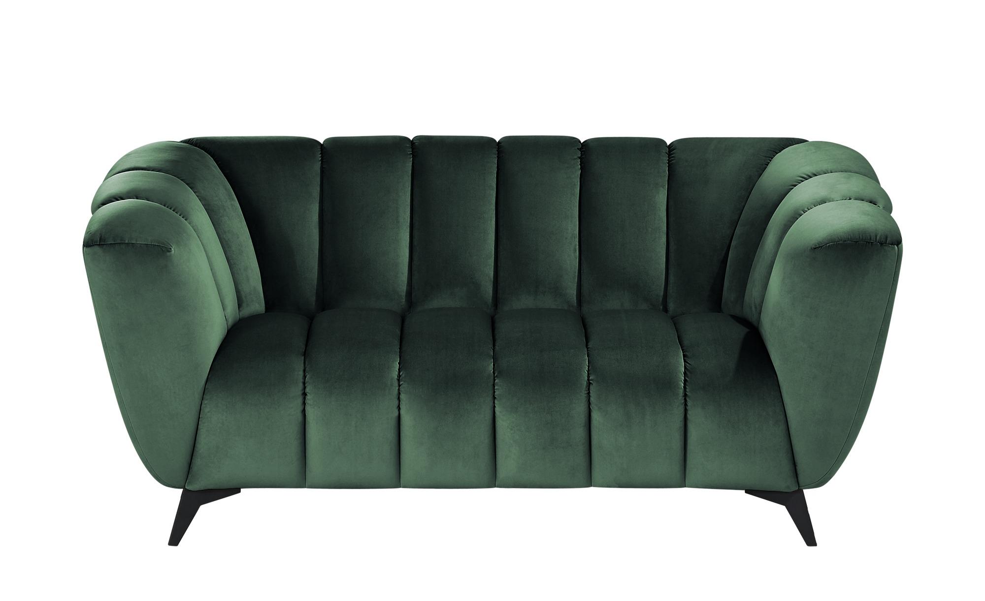 Sofa  Samantha ¦ grün ¦ Maße (cm): B: 180 H: 86 T: 100 Polstermöbel > Sofas > 2-Sitzer - Höffner