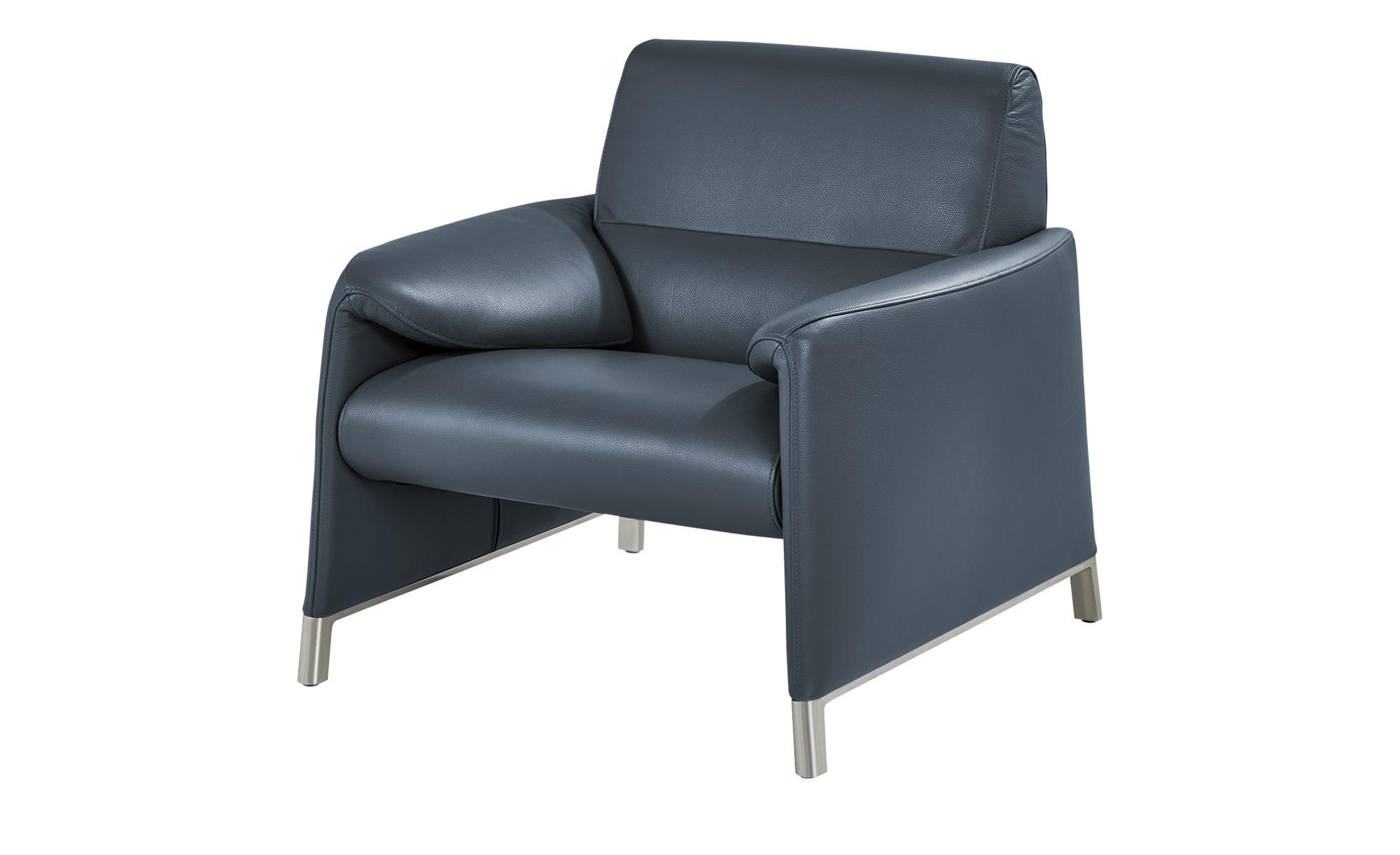 Ledersessel  Felizia ¦ blau ¦ Maße (cm): B: 90 H: 84 T: 88 Polstermöbel > Sessel > Ledersessel - Höffner