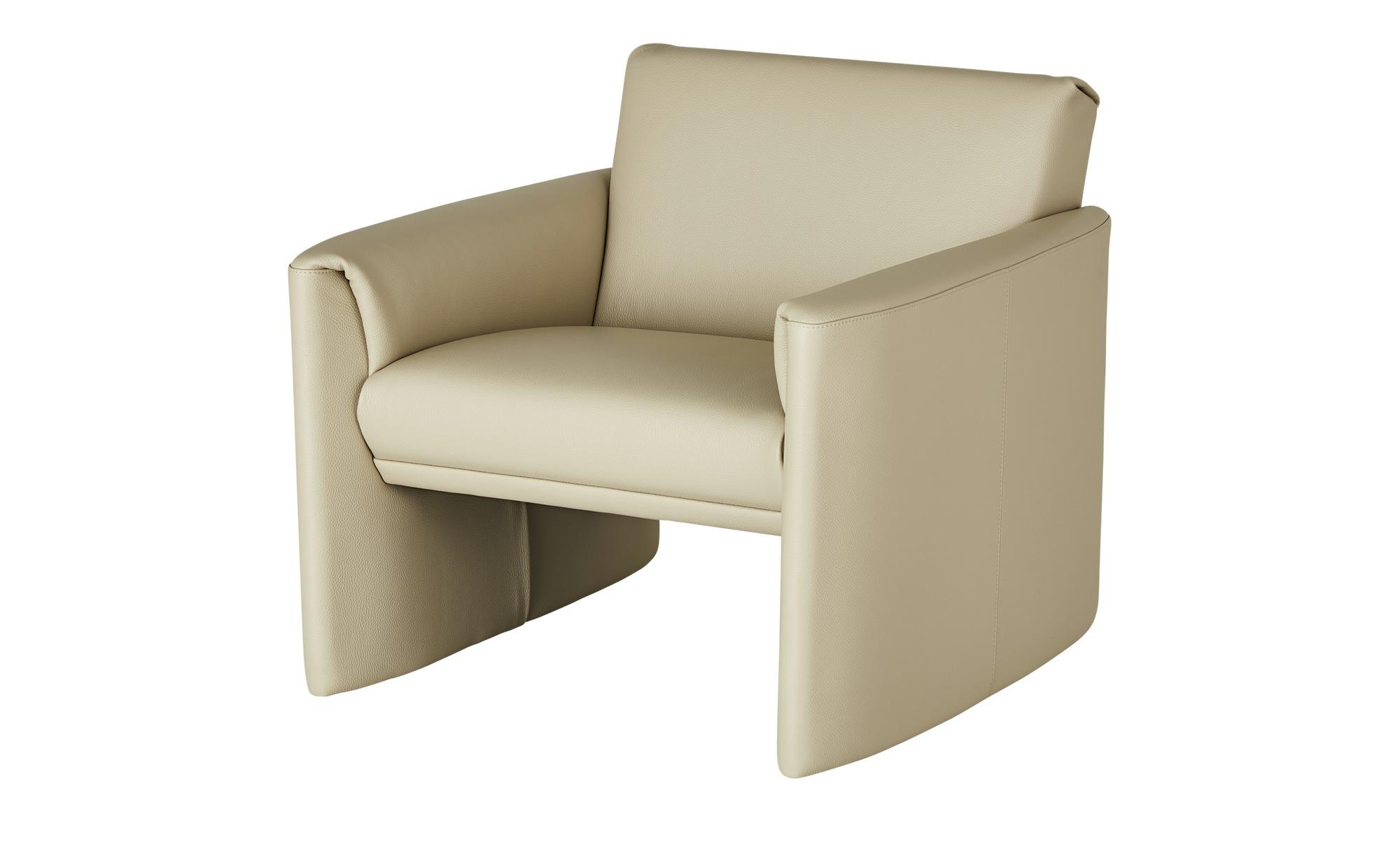 Ledersessel, niedrig  Boavista ¦ creme ¦ Maße (cm): B: 83 H: 73 T: 86 Polstermöbel > Sessel > Ledersessel - Höffner