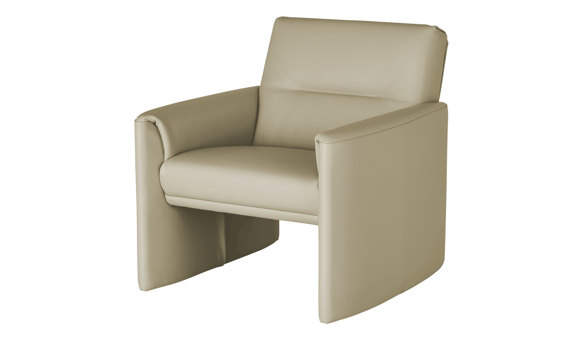 Ledersessel, hoch  Boavista ¦ creme ¦ Maße (cm): B: 83 H: 83 T: 89 Polstermöbel > Sessel > Ledersessel - Höffner