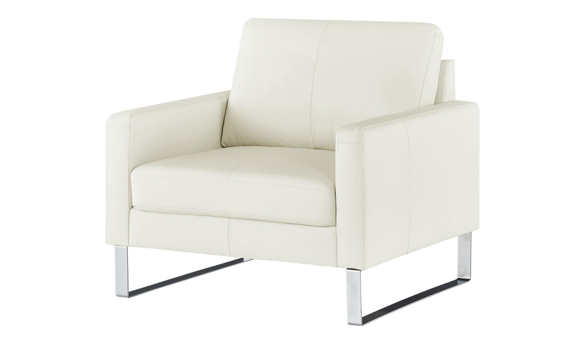 Sessel  Rajaa ¦ weiß ¦ Maße (cm): B: 100 H: 90 T: 93 Polstermöbel > Sessel > Ledersessel - Höffner