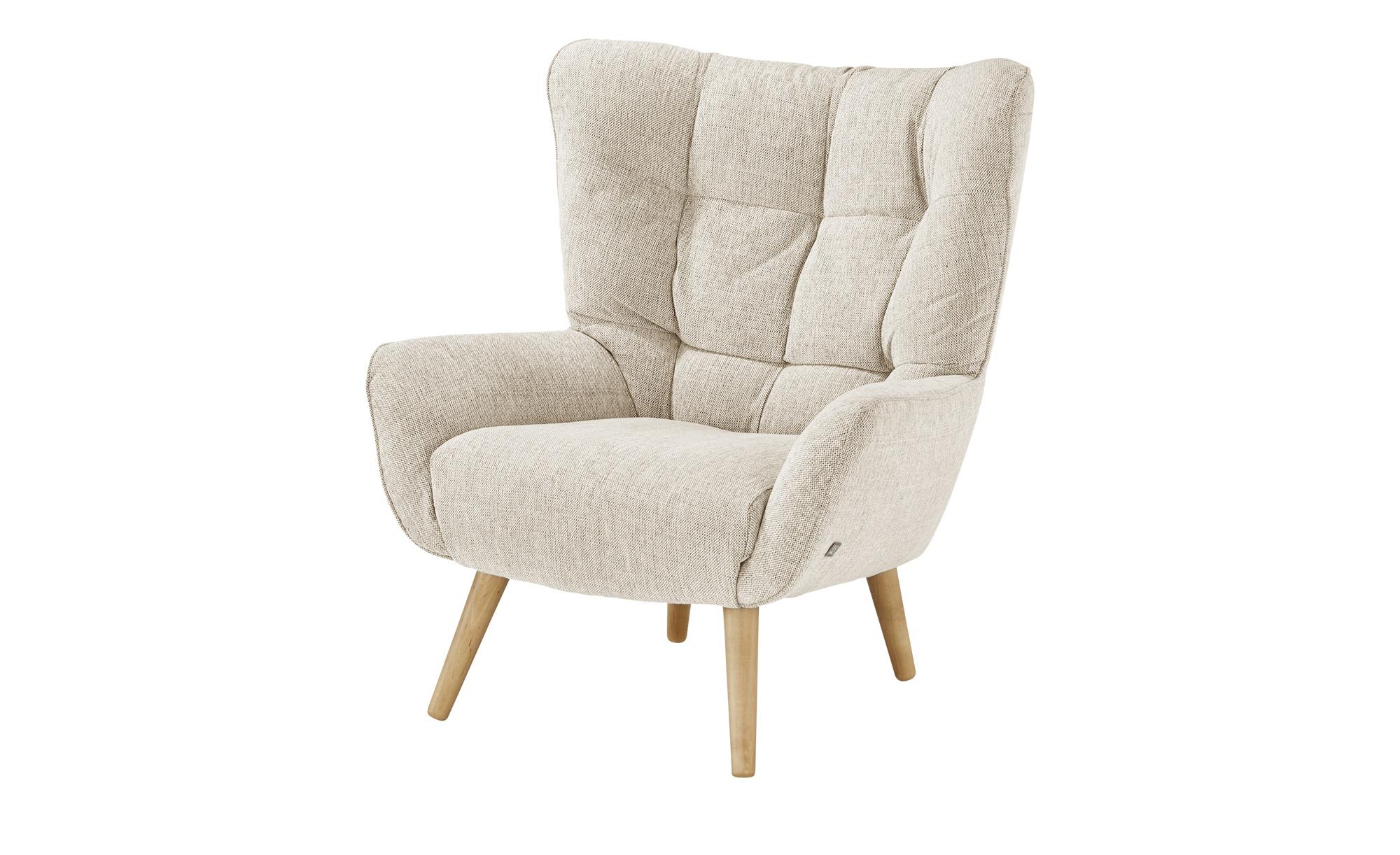 SOHO Polstersessel  Jolyn ¦ beige ¦ Maße (cm): B: 87 H: 100 T: 86 Polstermöbel > Sessel > Ohrensessel - Höffner