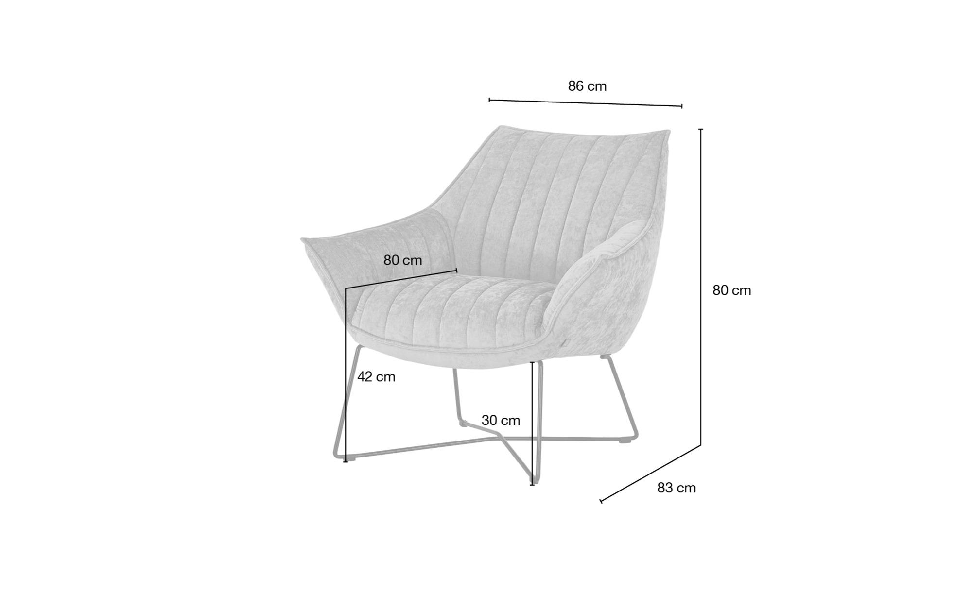 SOHO Sessel  Egeria ¦ beige ¦ Maße (cm): B: 86 H: 80 T: 83 Polstermöbel > Sessel > Polstersessel - Höffner
