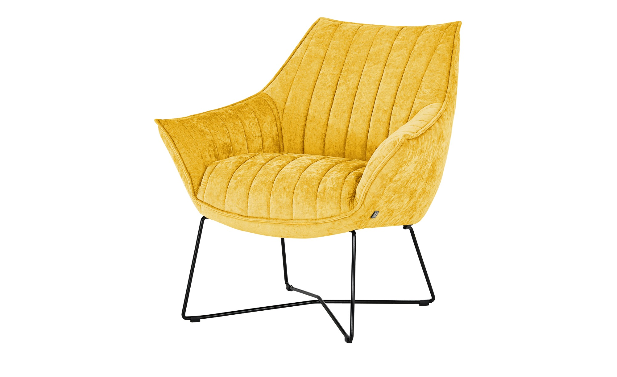 SOHO Sessel  Egeria ¦ gelb ¦ Maße (cm): B: 86 H: 80 T: 83 Polstermöbel > Sessel > Polstersessel - Höffner