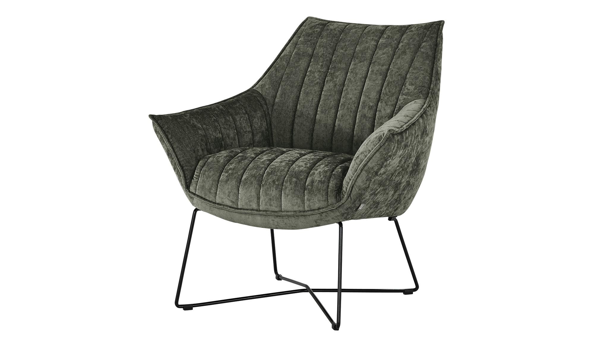 SOHO Sessel  Egeria ¦ grau ¦ Maße (cm): B: 86 H: 80 T: 83 Polstermöbel > Sessel > Polstersessel - Höffner