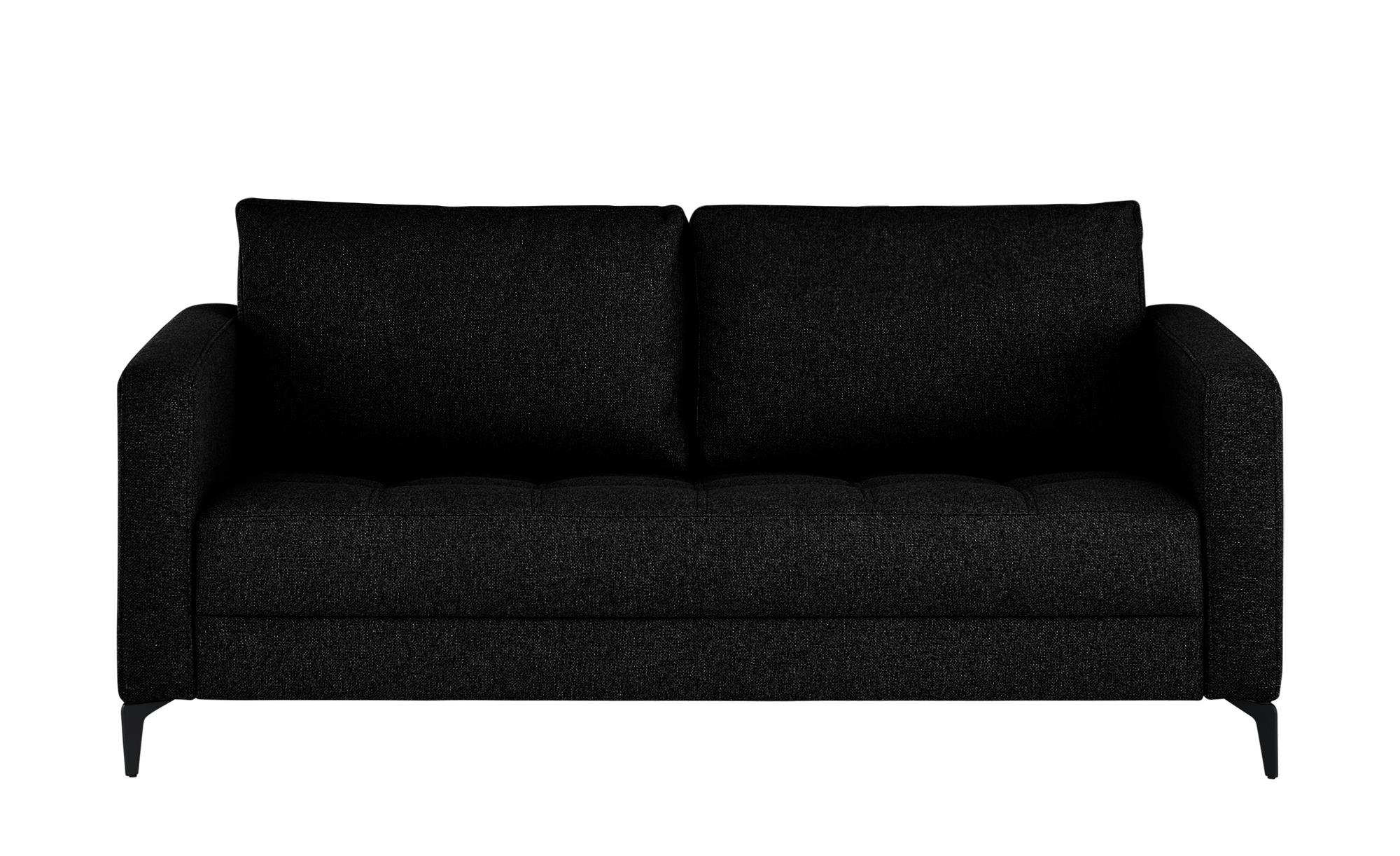 smart Sofa  Gesa ¦ schwarz ¦ Maße (cm): B: 178 H: 83 T: 91 Polstermöbel > Sofas > 2-Sitzer - Höffner