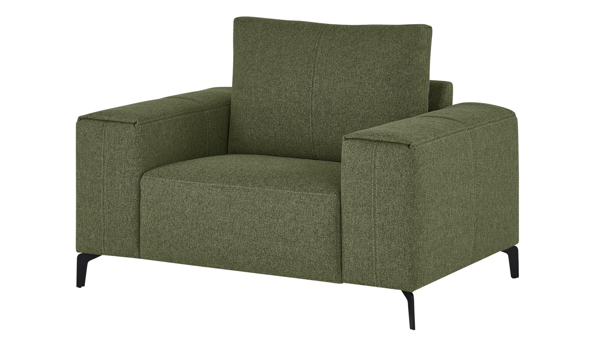 smart Sessel  Gabriela ¦ grün ¦ Maße (cm): B: 127 H: 90 T: 91 Polstermöbel > Sessel > Polstersessel - Höffner