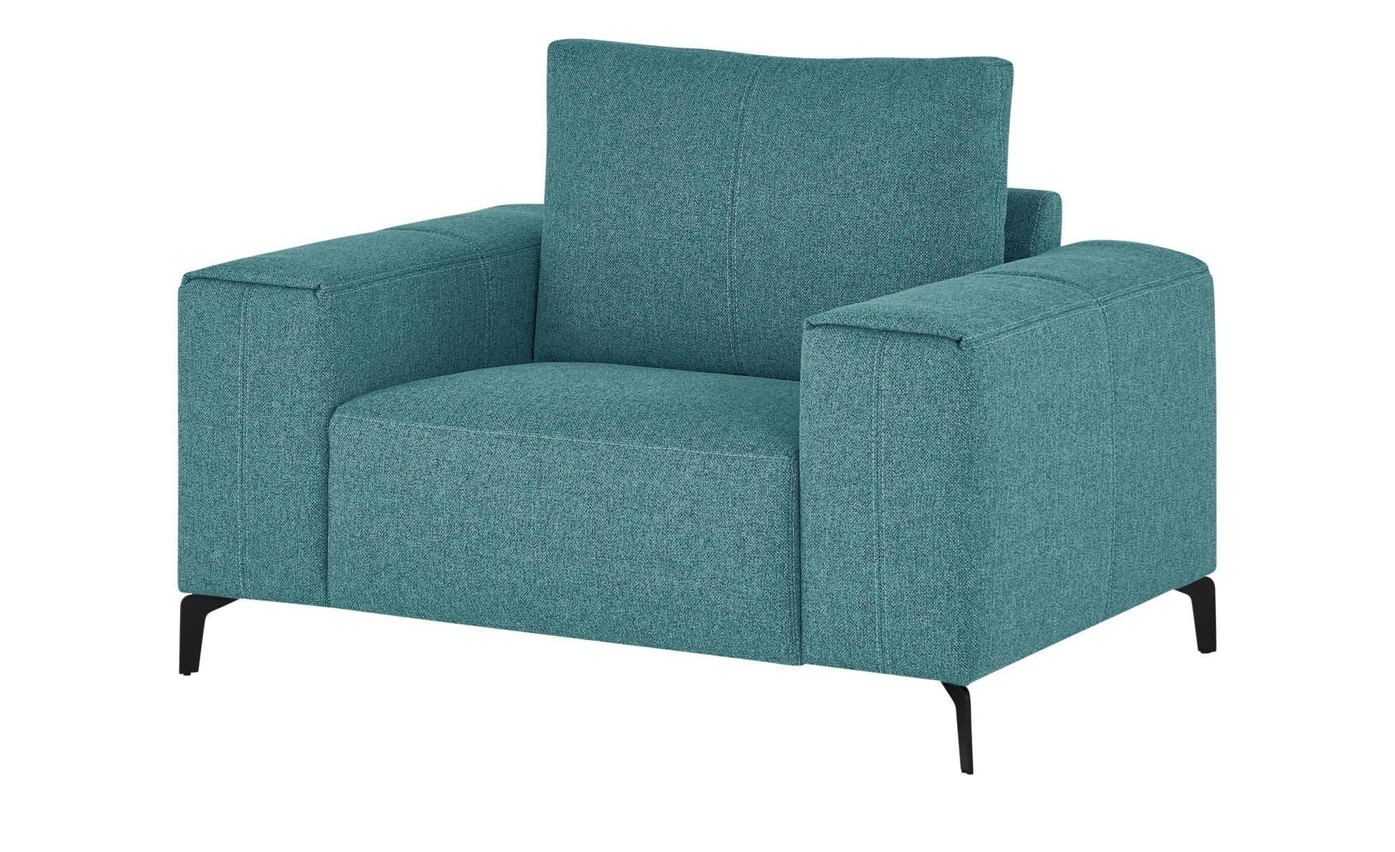smart Sessel  Gabriela ¦ türkis/petrol ¦ Maße (cm): B: 127 H: 90 T: 91 Polstermöbel > Sessel > Polstersessel - Höffner
