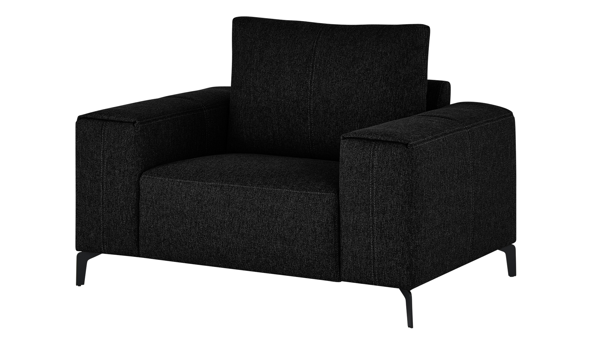 smart Sessel  Gabriela ¦ schwarz ¦ Maße (cm): B: 127 H: 90 T: 91 Polstermöbel > Sessel > Polstersessel - Höffner
