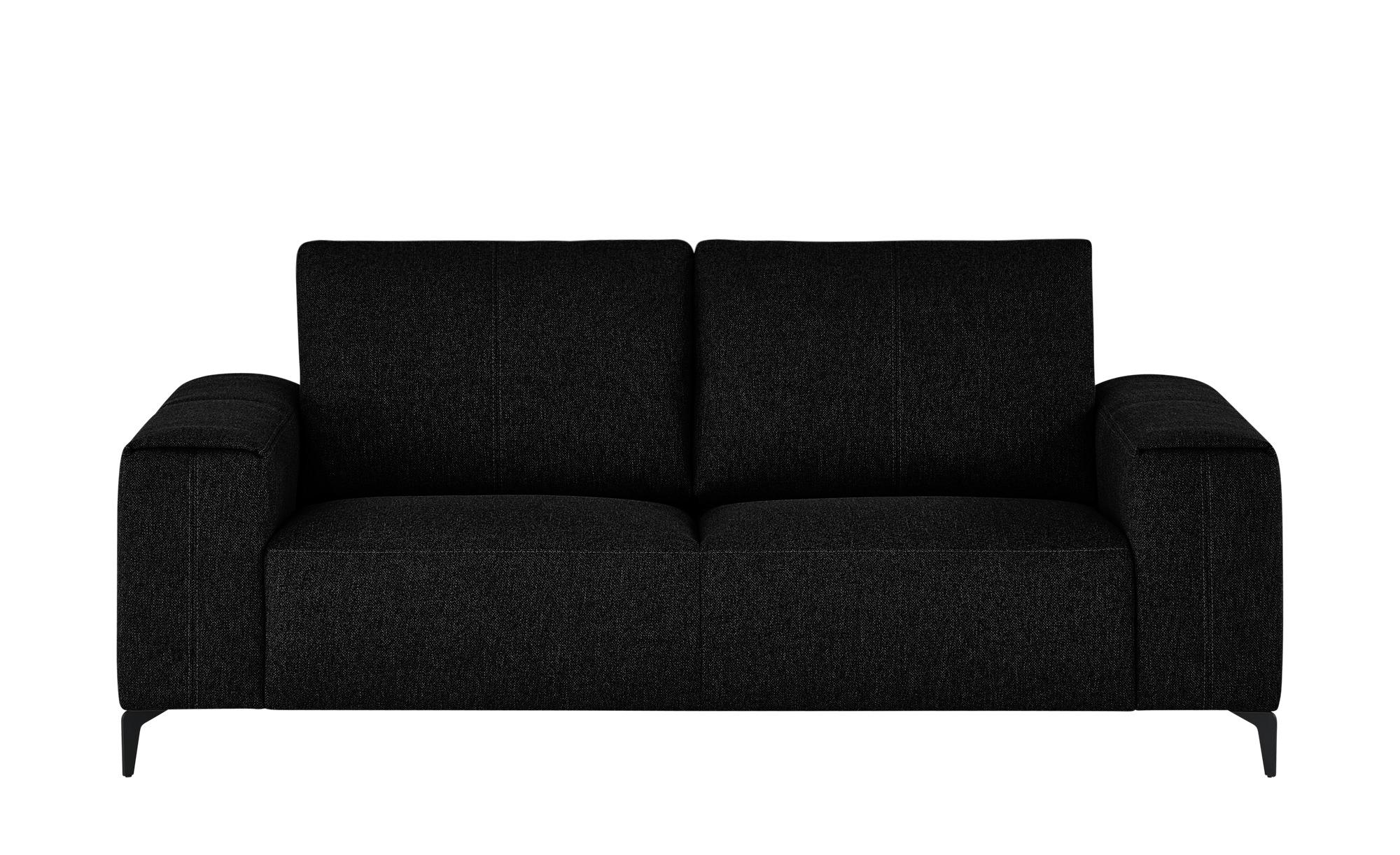smart Sofa  Gabriela ¦ schwarz ¦ Maße (cm): B: 202 H: 90 T: 91 Polstermöbel > Sofas > 2-Sitzer - Höffner