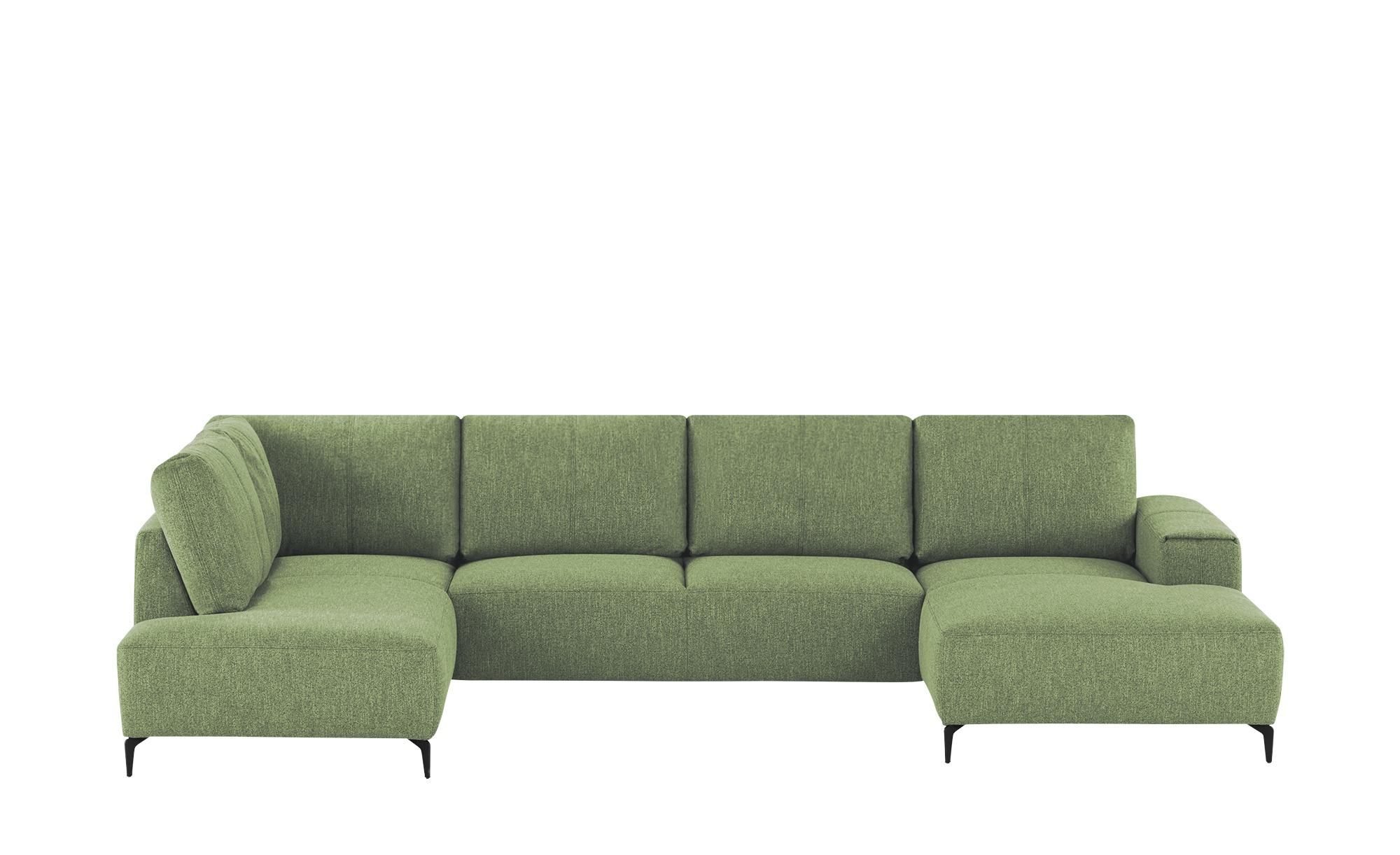 smart Wohnlandschaft  Gabriela ¦ grün ¦ Maße (cm): B: 355 H: 90 T: 170 Polstermöbel > Sofas > Wohnlandschaften - Höffner