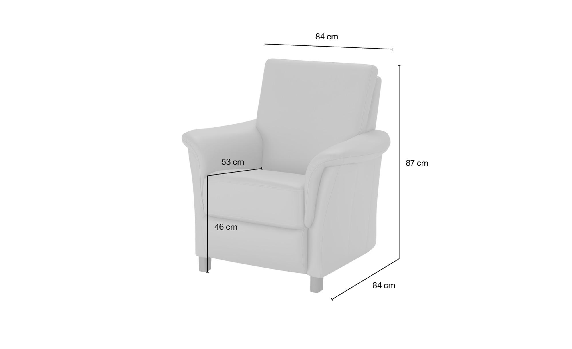 Wohnwert Sessel  Alexa ¦ rot ¦ Maße (cm): B: 84 H: 87 T: 84 Polstermöbel > Sessel > Ledersessel - Höffner