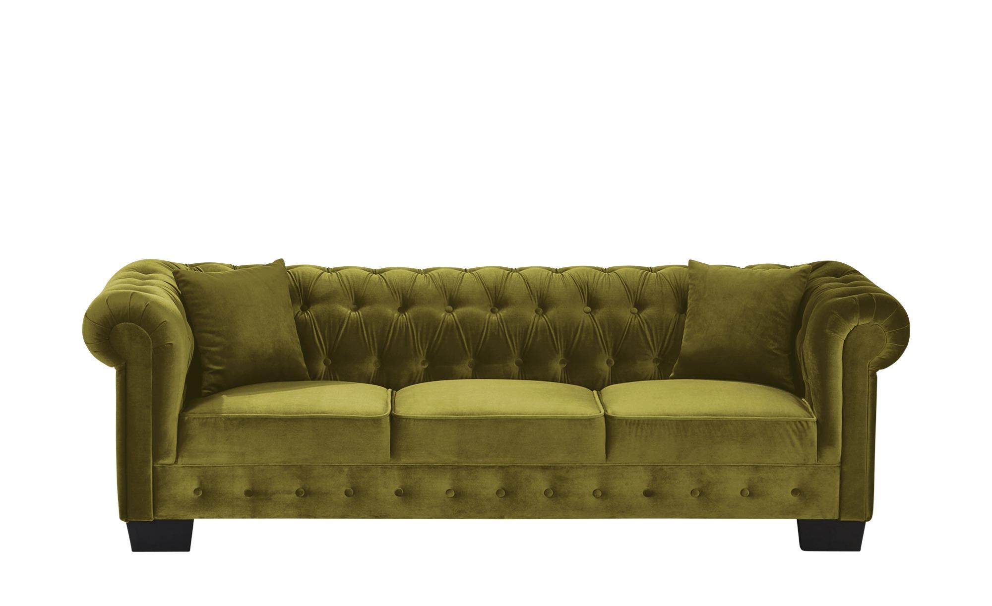 smart Sofa  Chelli ¦ grün ¦ Maße (cm): B: 242 H: 77 T: 96 Polstermöbel > Sofas > Einzelsofas - Höffner