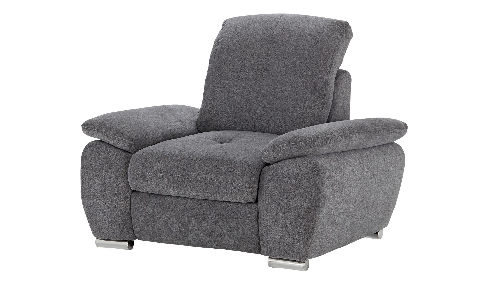 Sessel  Gladys ¦ grau ¦ Maße (cm): B: 108 H: 89 T: 104 Polstermöbel > Sessel > Polstersessel - Höffner