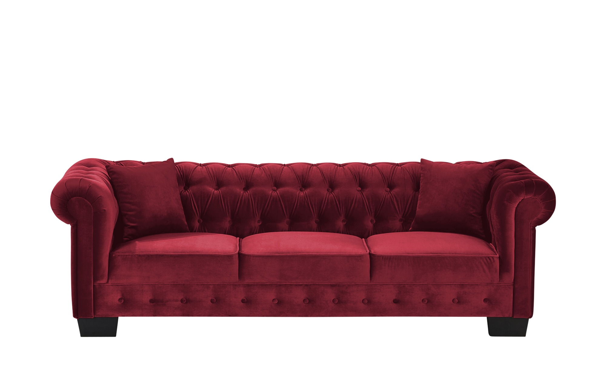 smart Sofa  Chelli ¦ rot ¦ Maße (cm): B: 242 H: 77 T: 96 Polstermöbel > Sofas > Einzelsofas - Höffner