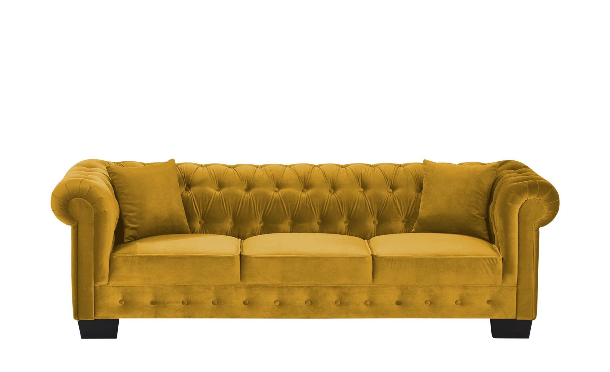 smart Sofa  Chelli ¦ gelb ¦ Maße (cm): B: 242 H: 77 T: 96 Polstermöbel > Sofas > Einzelsofas - Höffner