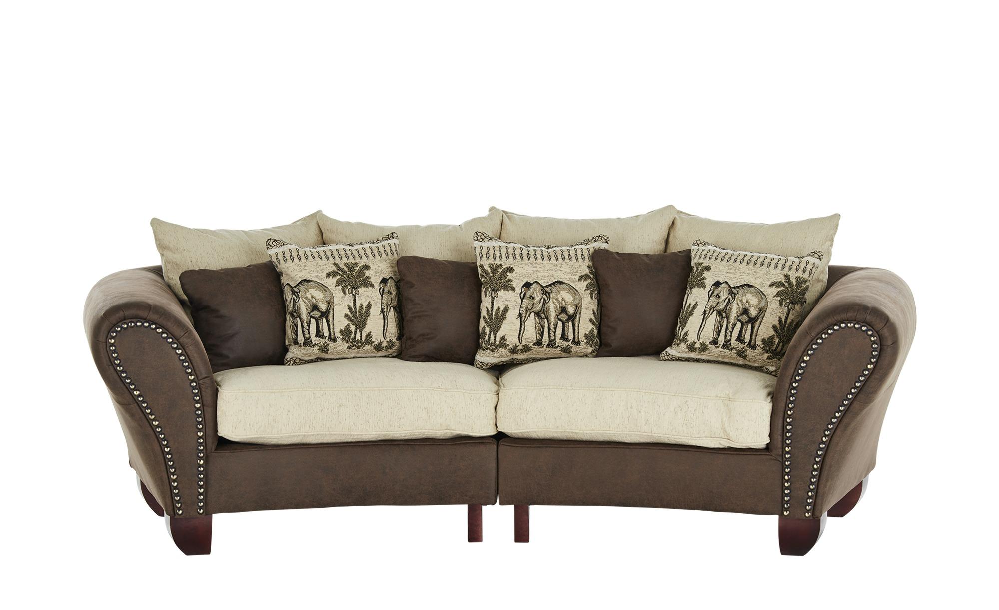 smart Big Sofa  Nadja ¦ braun ¦ Maße (cm): B: 277 H: 100 T: 108 Polstermöbel > Sofas > 3-Sitzer - Höffner