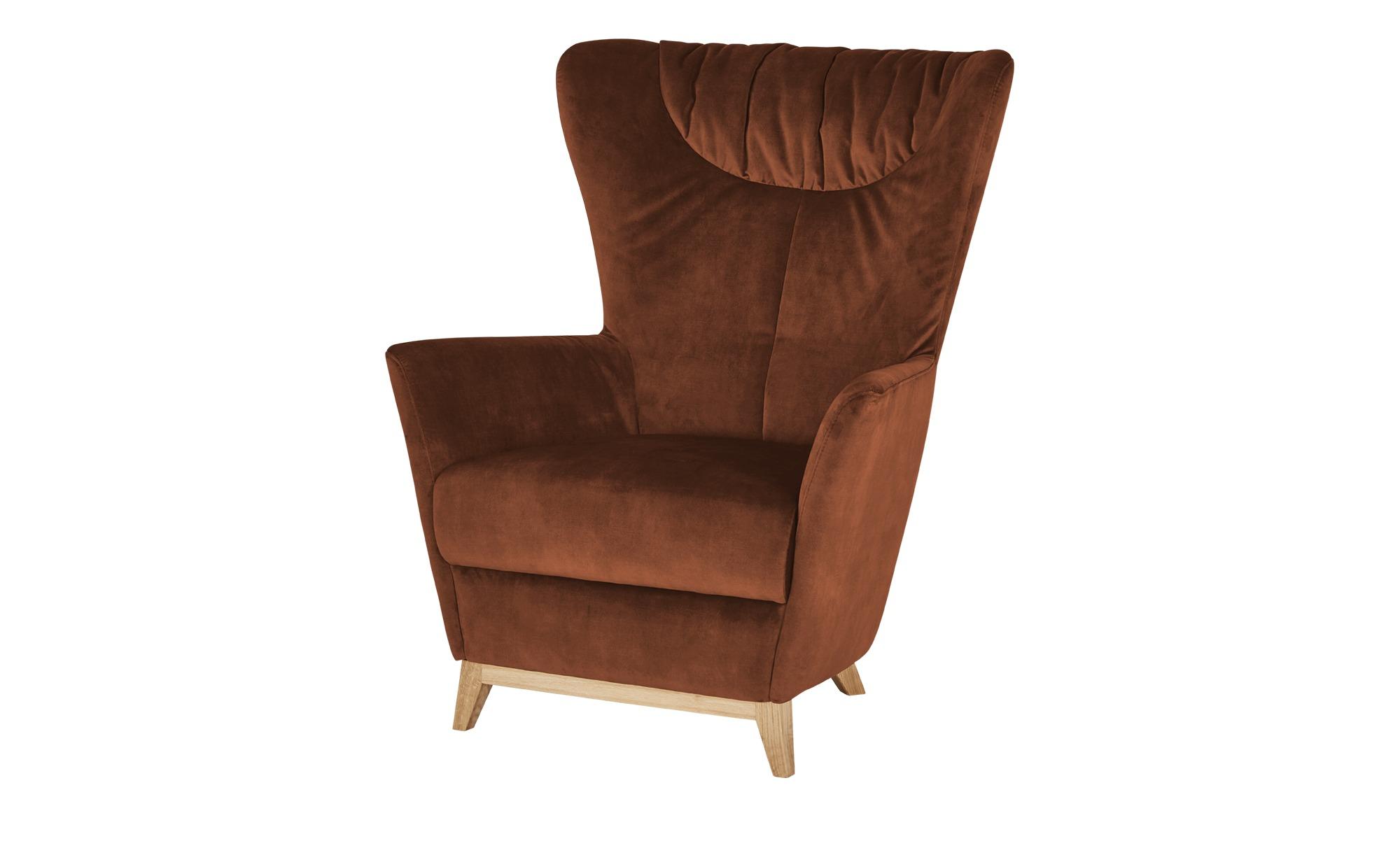Ravensberger Werkstätten Sessel  Bernadino ¦ rot ¦ Maße (cm): B: 88 H: 112 T: 95 Polstermöbel > Sessel > Ohrensessel - Höffner
