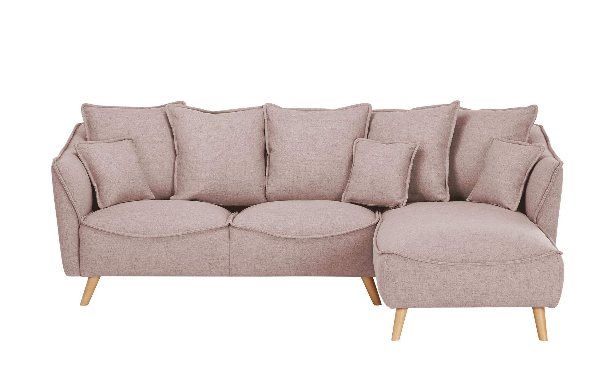 Ecksofa  Vejen ¦ rosa/pink ¦ Maße (cm): H: 80 Polstermöbel > Sofas > Ecksofas - Höffner