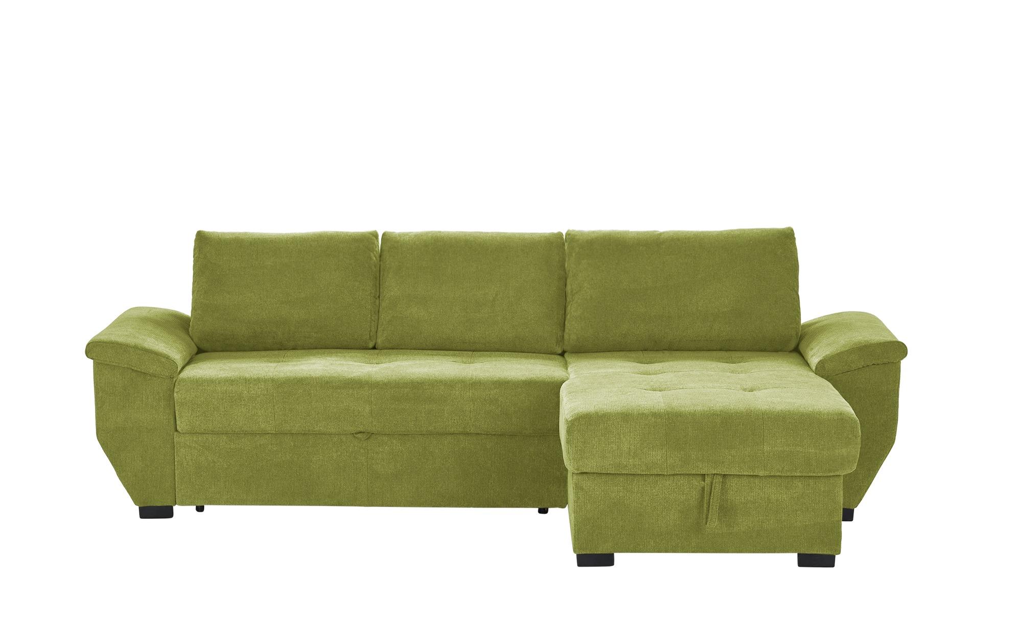 Ecksofa  Bulma ¦ grün ¦ Maße (cm): H: 84 Polstermöbel > Sofas > Ecksofas - Höffner