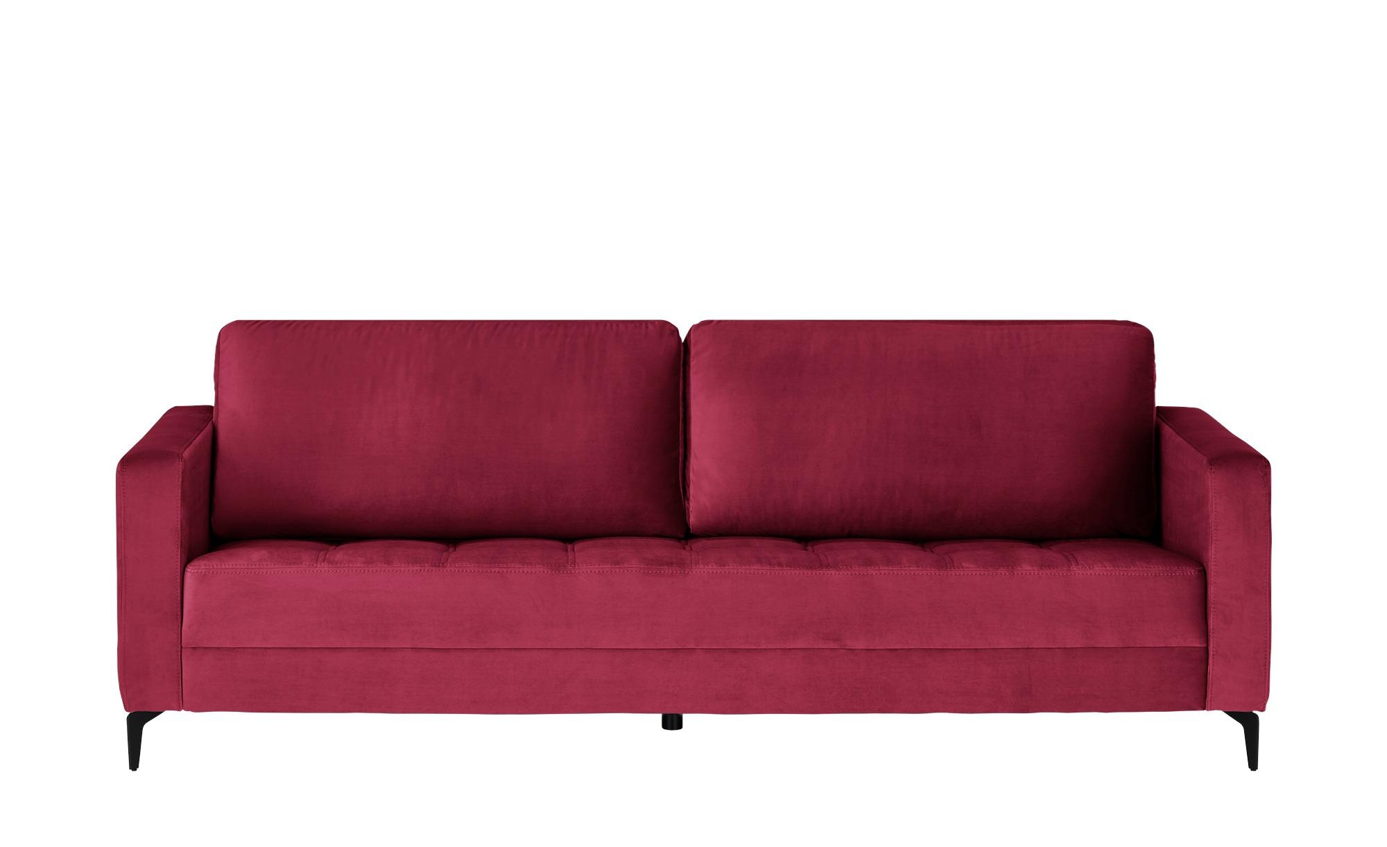 smart Sofa  Gesa ¦ rot ¦ Maße (cm): B: 228 H: 83 T: 91 Polstermöbel > Sofas > 3-Sitzer - Höffner