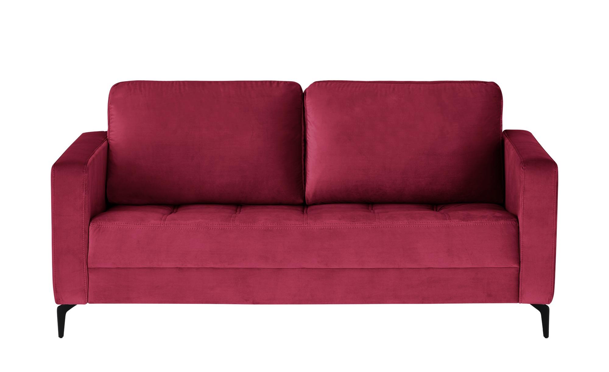 smart Sofa  Gesa ¦ rot ¦ Maße (cm): B: 178 H: 83 T: 91 Polstermöbel > Sofas > 2-Sitzer - Höffner