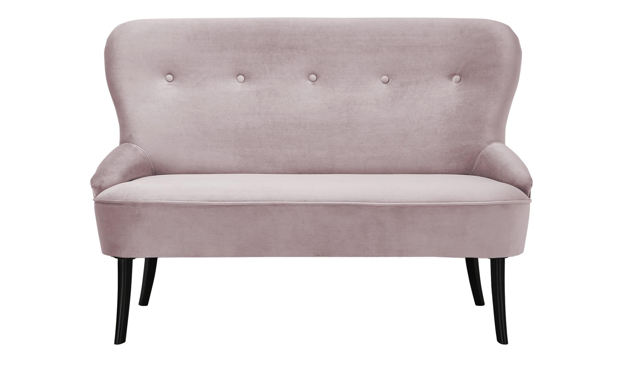 smart Sofa  Renia ¦ rosa/pink ¦ Maße (cm): B: 130 H: 89 T: 72 Polstermöbel > Sofas > 2-Sitzer - Höffner
