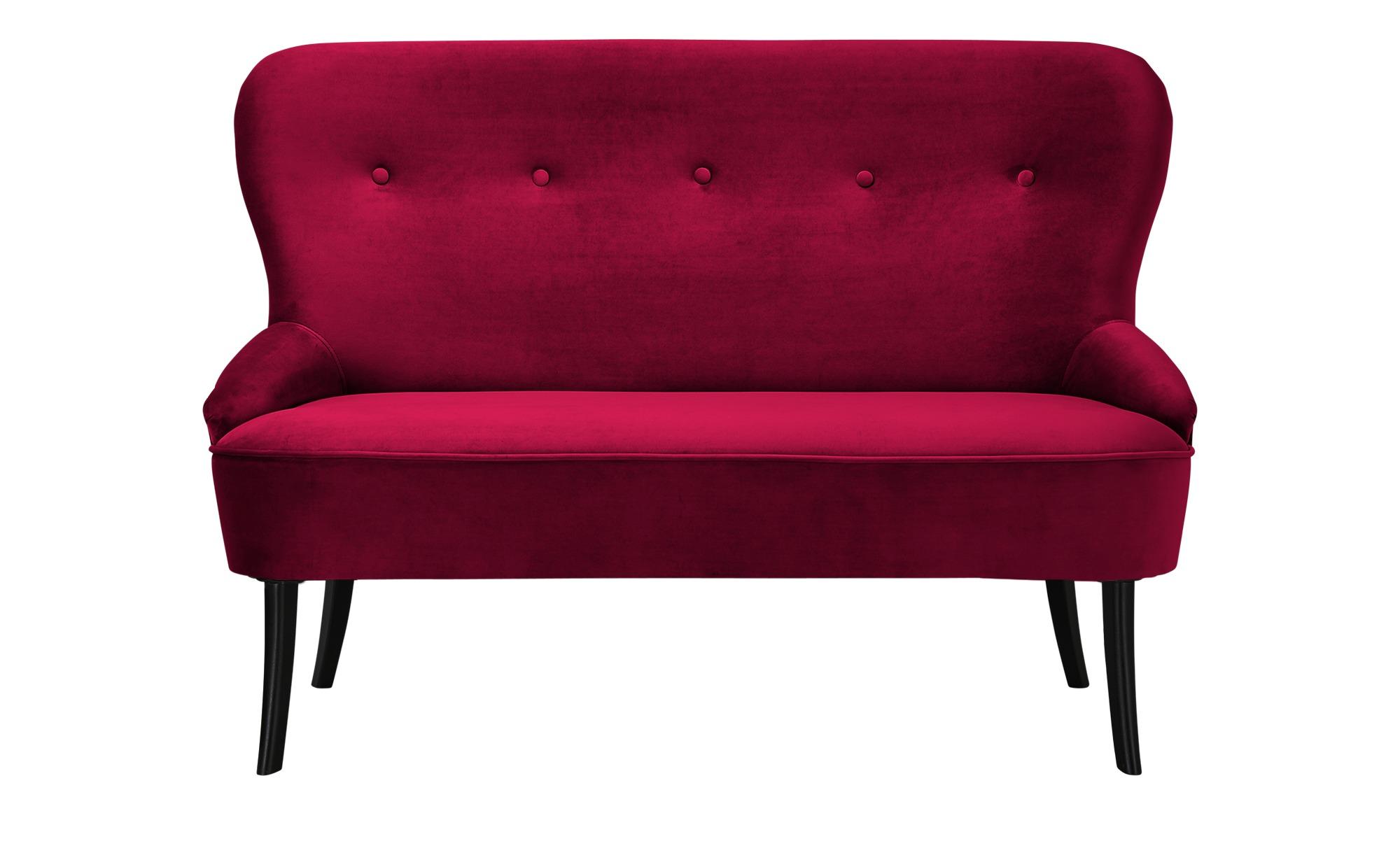 smart Sofa  Renia ¦ rot ¦ Maße (cm): B: 130 H: 89 T: 72 Polstermöbel > Sofas > 2-Sitzer - Höffner