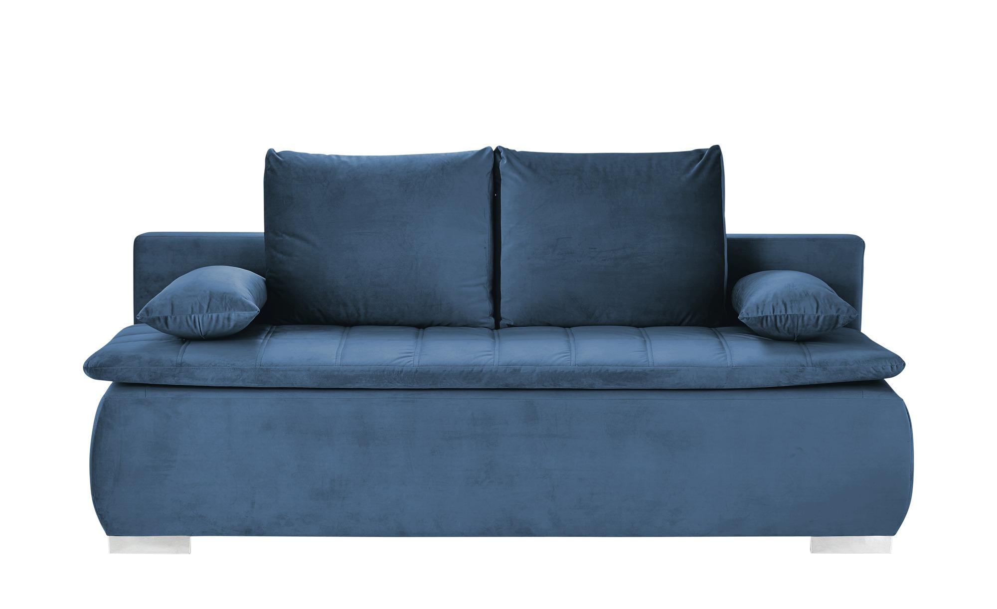 smart Schlafsofa  Leonie ¦ blau ¦ Maße (cm): B: 198 H: 92 T: 90 Polstermöbel > Sofas > Einzelsofas - Höffner
