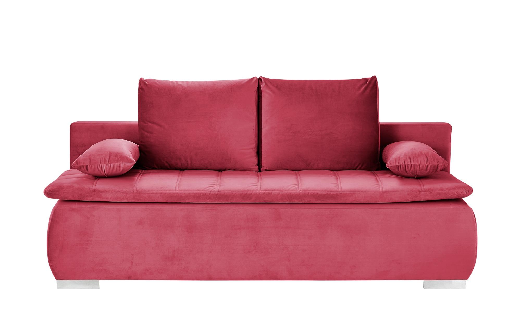 smart Schlafsofa  Leonie ¦ rot ¦ Maße (cm): B: 198 H: 92 T: 90 Polstermöbel > Sofas > Einzelsofas - Höffner