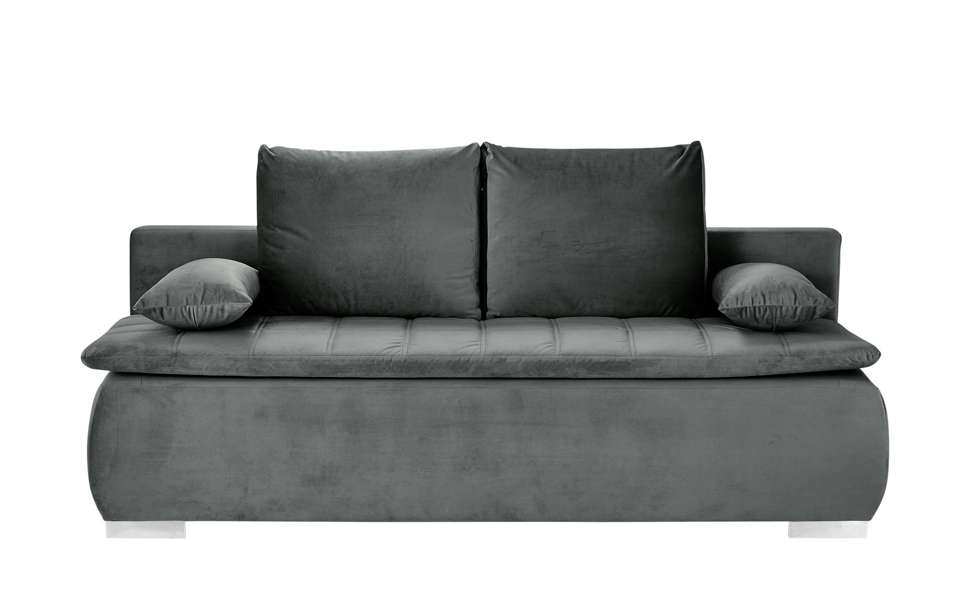 smart Schlafsofa  Leonie ¦ grau ¦ Maße (cm): B: 198 H: 92 T: 90 Polstermöbel > Sofas > Einzelsofas - Höffner