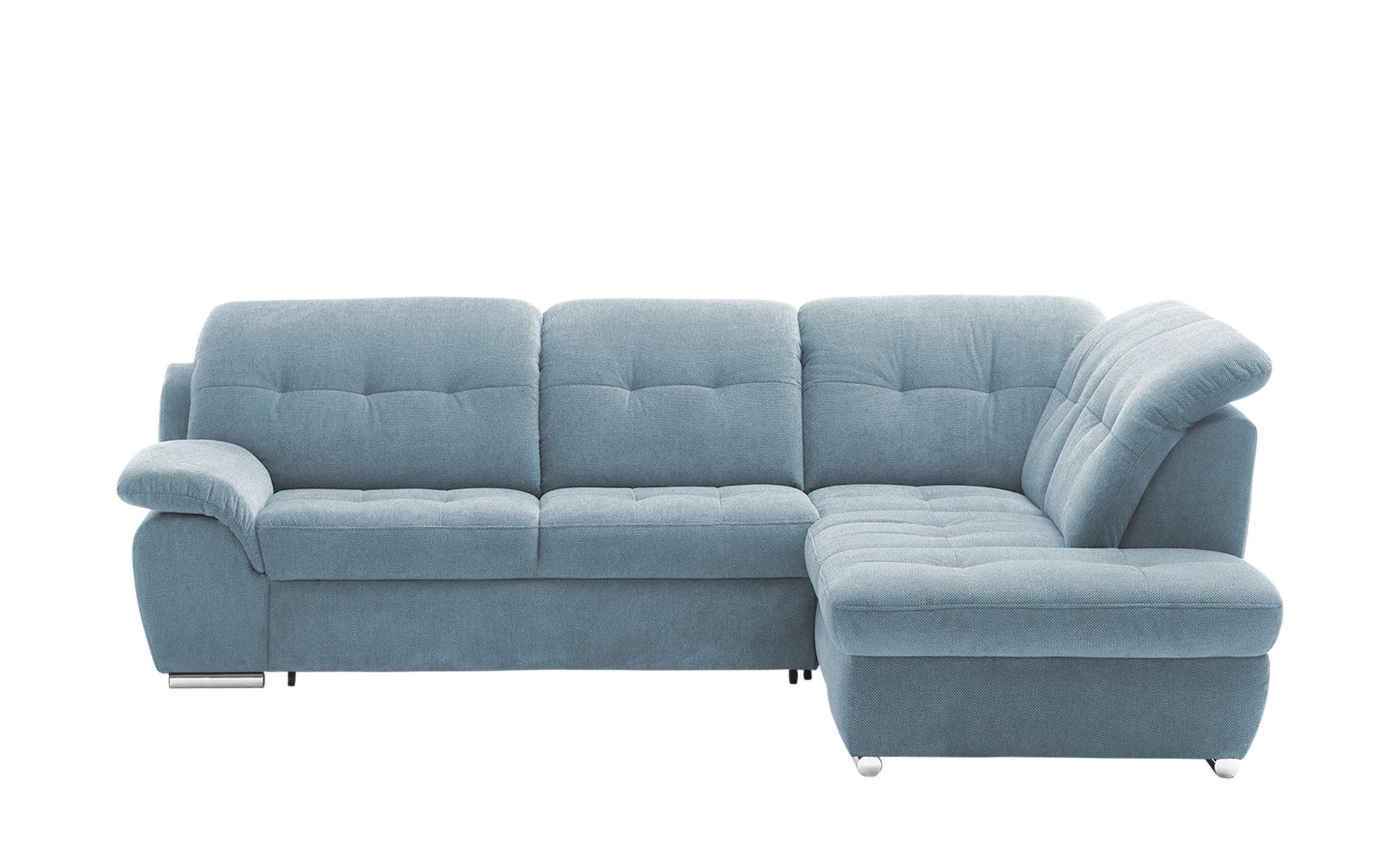Ecksofa mit Funktion  Halona ¦ blau ¦ Maße (cm): H: 89 Polstermöbel > Sofas > Ecksofas - Höffner