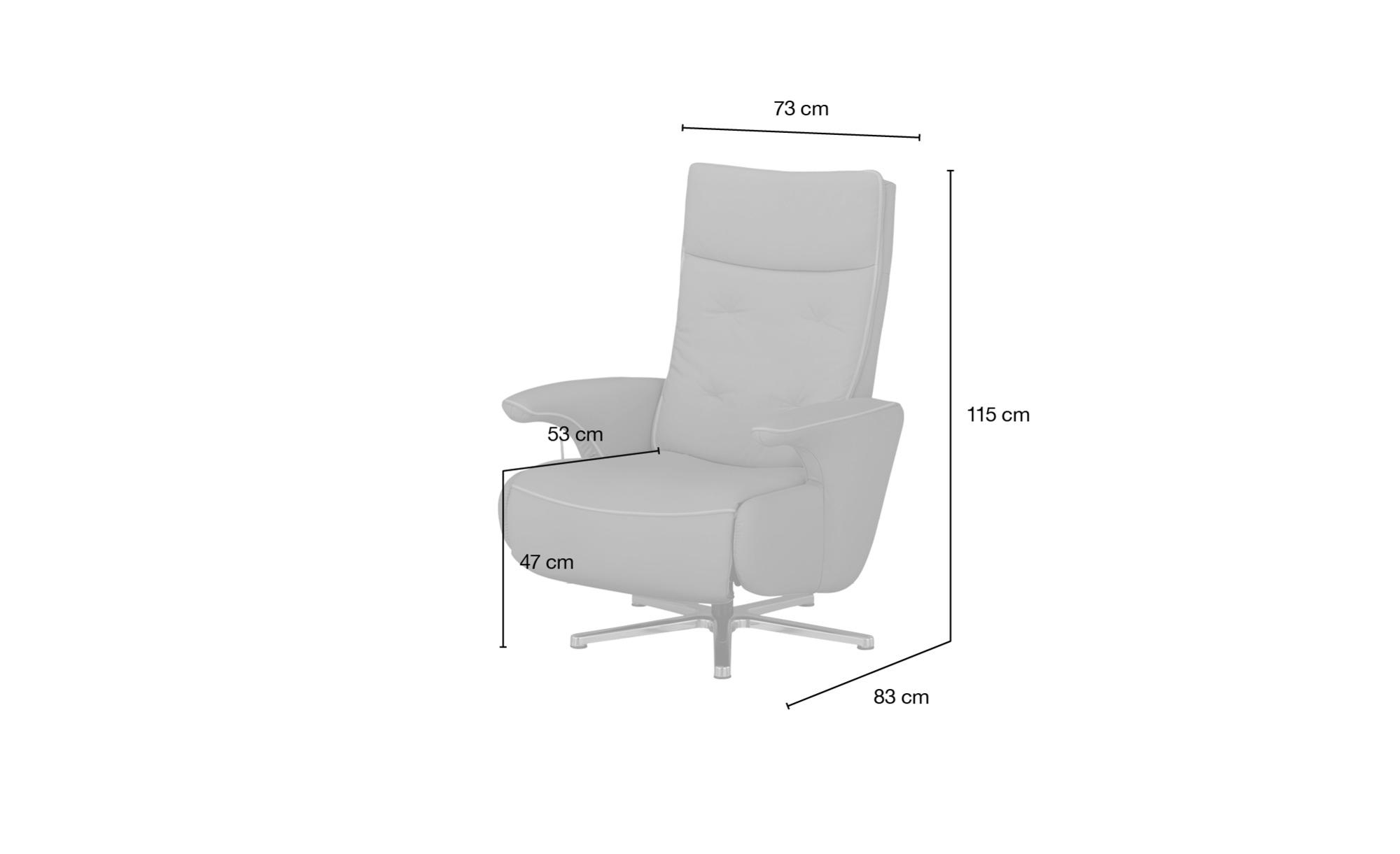 meinSofa Drehsessel  Franzi ¦ creme ¦ Maße (cm): B: 73 H: 115 T: 83 Polstermöbel > Sessel > Drehsessel - Höffner