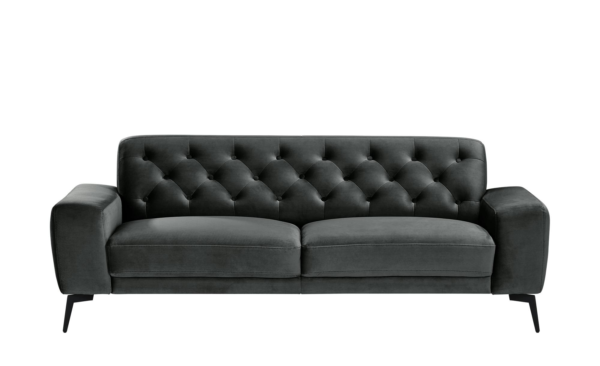 smart Sofa  Alana ¦ grau ¦ Maße (cm): B: 216 H: 77 T: 95 Polstermöbel > Sofas > 3-Sitzer - Höffner