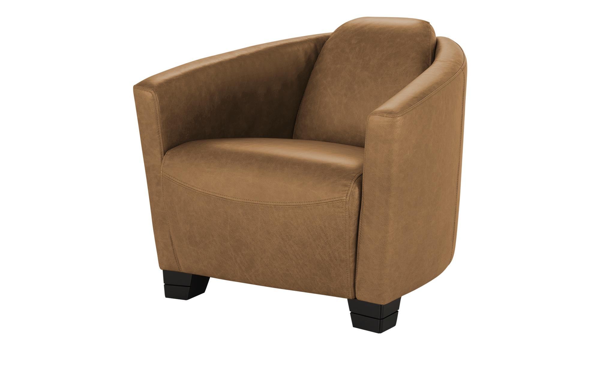 uno Ledersessel  Taylor ¦ braun ¦ Maße (cm): B: 79 H: 73 T: 85 Polstermöbel > Sessel > Ledersessel - Höffner