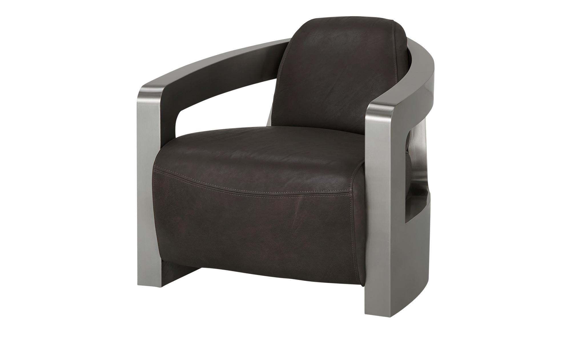Sessel im Industriallook  Tyson ¦ braun ¦ Maße (cm): B: 76 H: 70 T: 85 Polstermöbel > Sessel > Ledersessel - Höffner