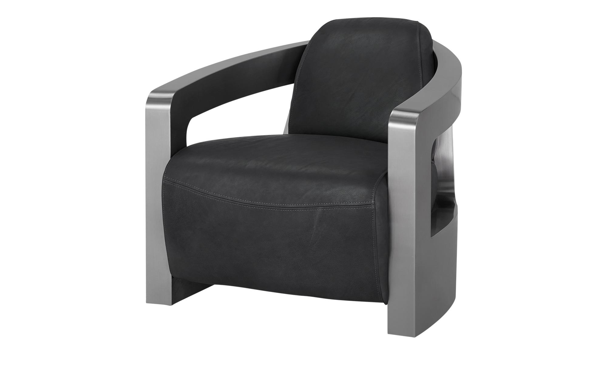 Sessel im Industriallook  Tyson ¦ grau ¦ Maße (cm): B: 76 H: 70 T: 85 Polstermöbel > Sessel > Ledersessel - Höffner