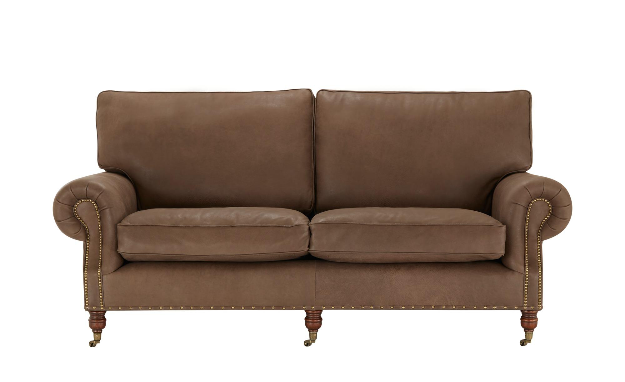 Einzelsofa  Balmoral ¦ braun ¦ Maße (cm): B: 201 H: 95 T: 108 Polstermöbel > Sofas > 3-Sitzer - Höffner