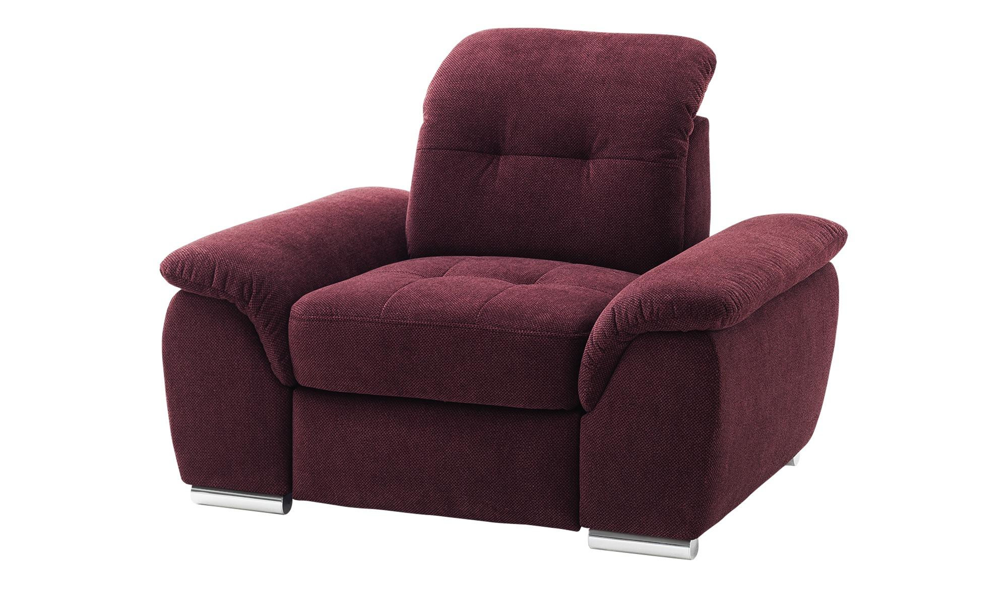 Sessel   Halona ¦ rot ¦ Maße (cm): B: 116 H: 89 T: 109 Polstermöbel > Sessel > Polstersessel - Höffner
